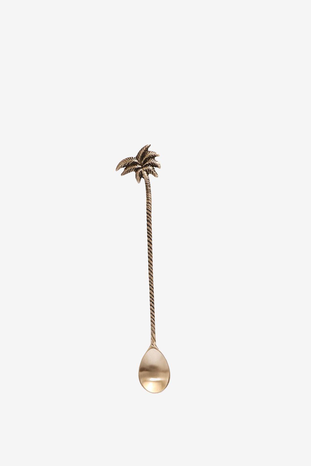 Messing latte lepel met palmboom detail - Homeland | Sissy-Boy