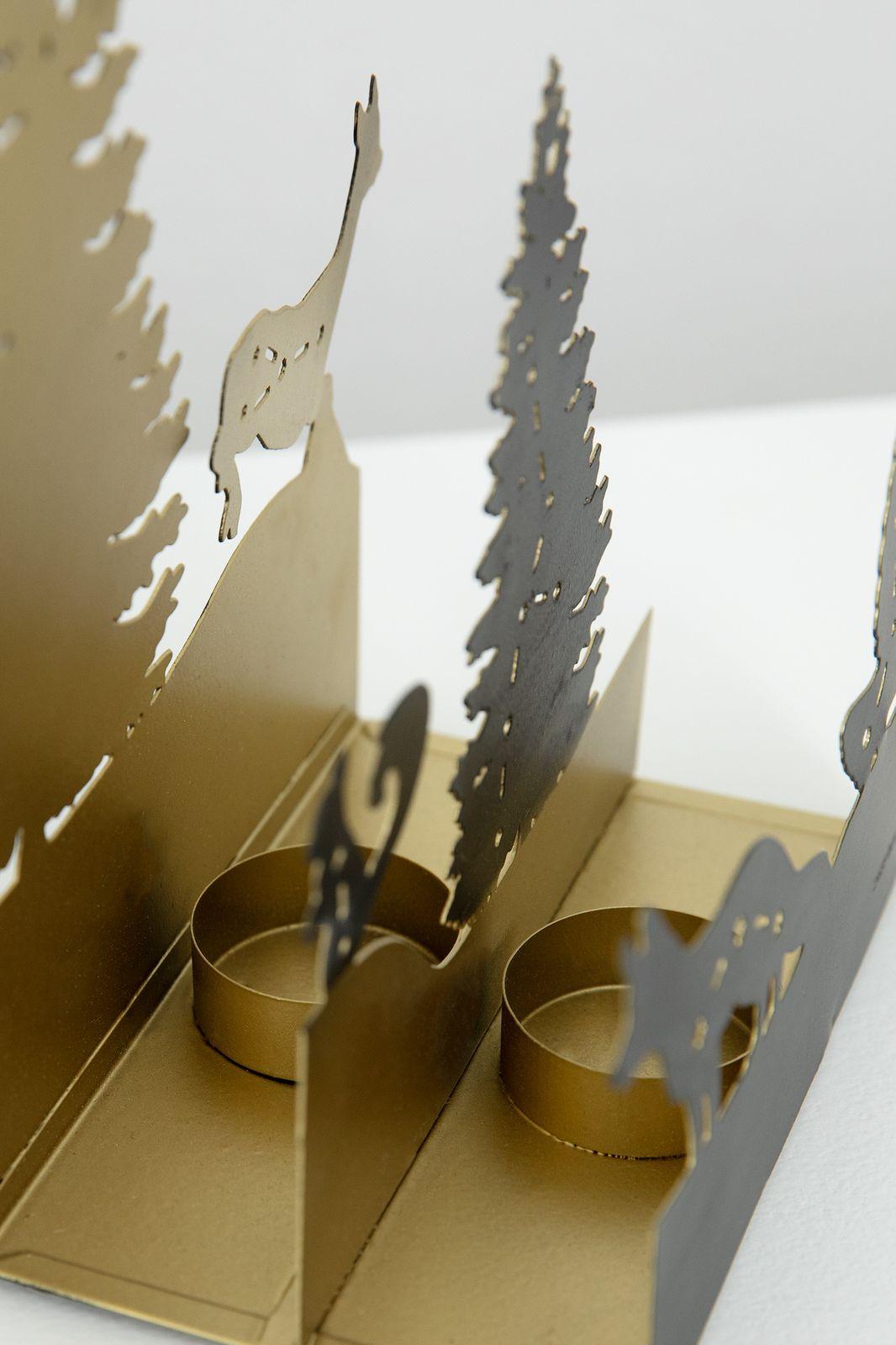 Waxinehouder diorama bos