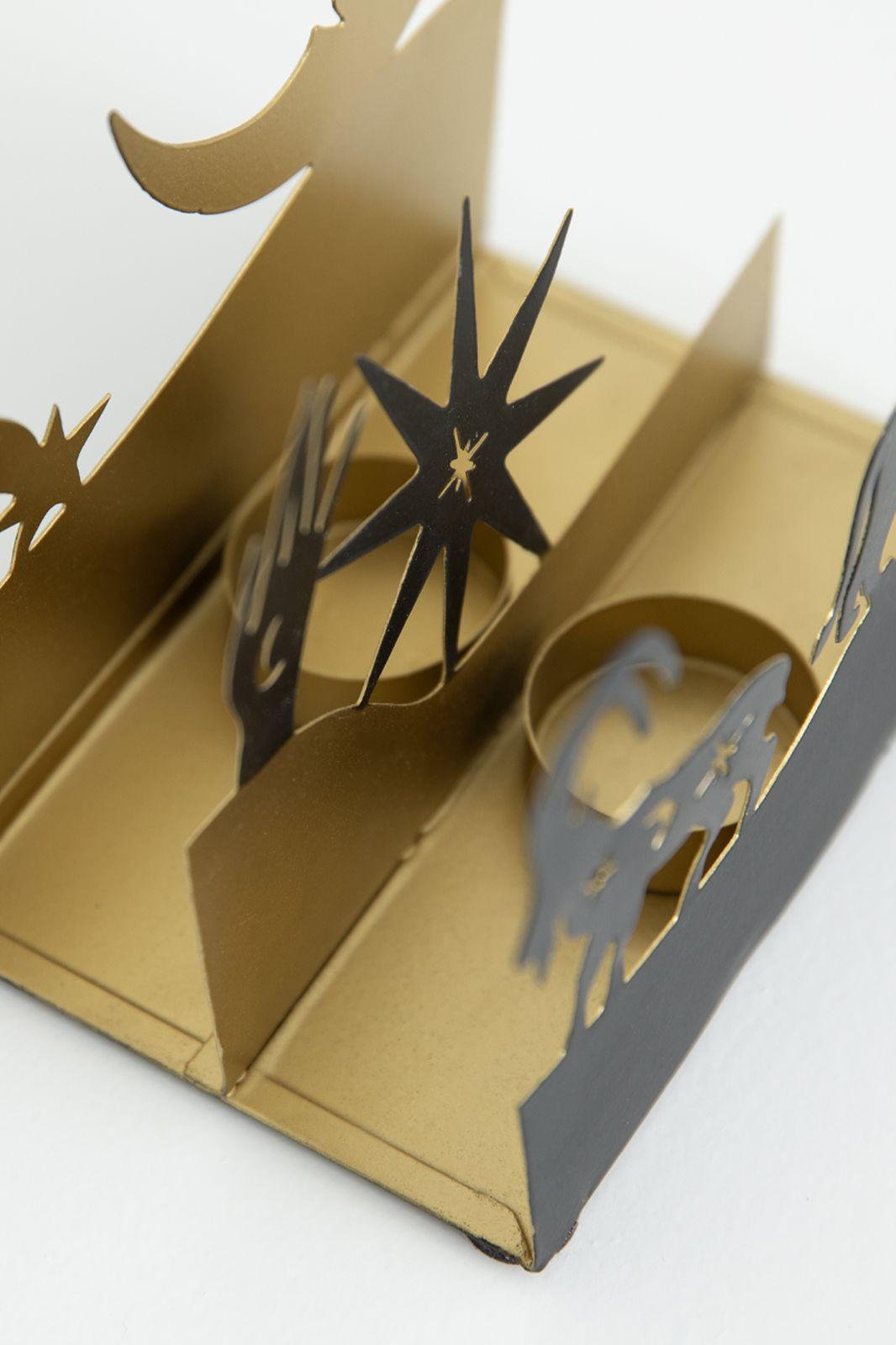 Waxinehouder diorama sterren