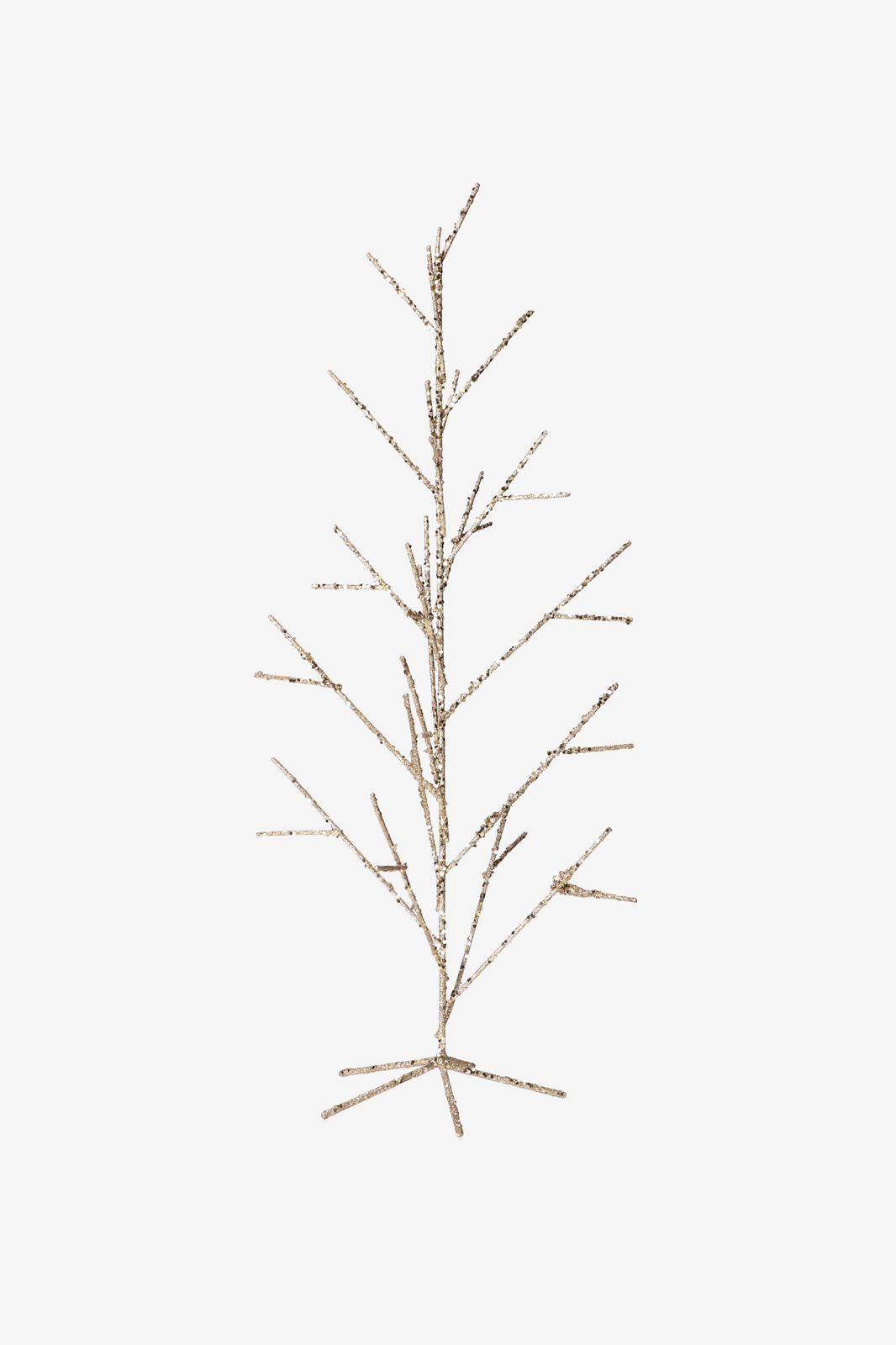 Goudkleurige Kerstboom glitters (60 cm)