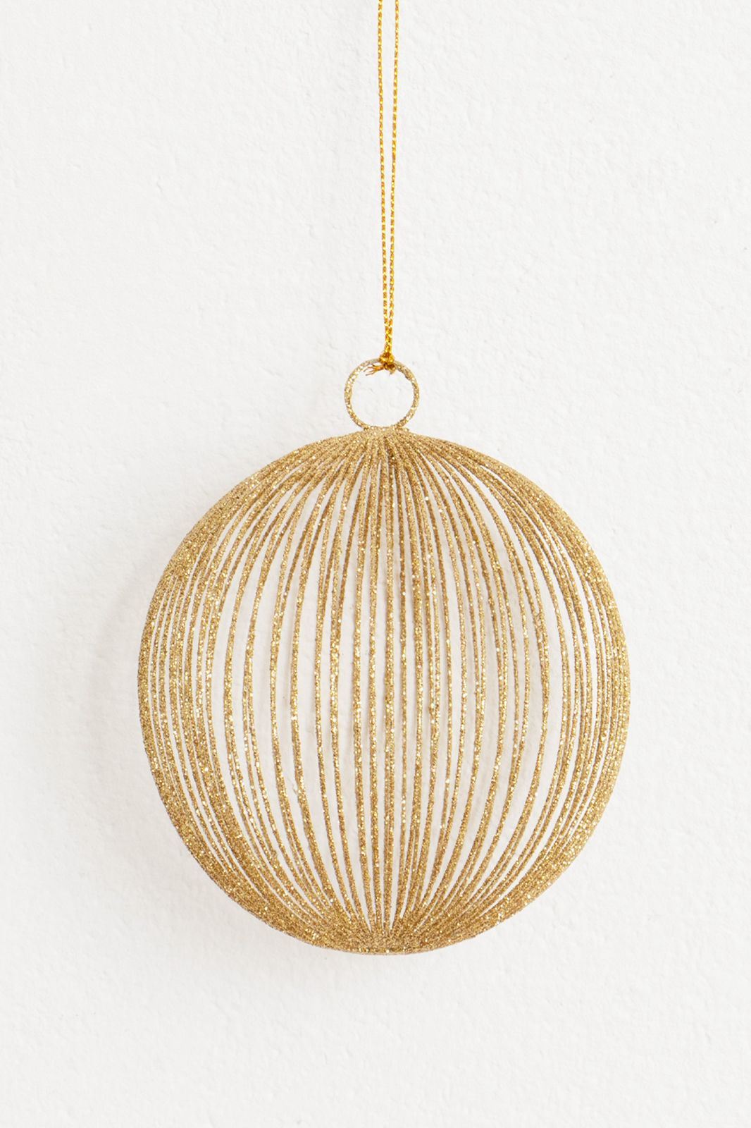 Gouden kersthanger bal glitters - Homeland | Sissy-Boy