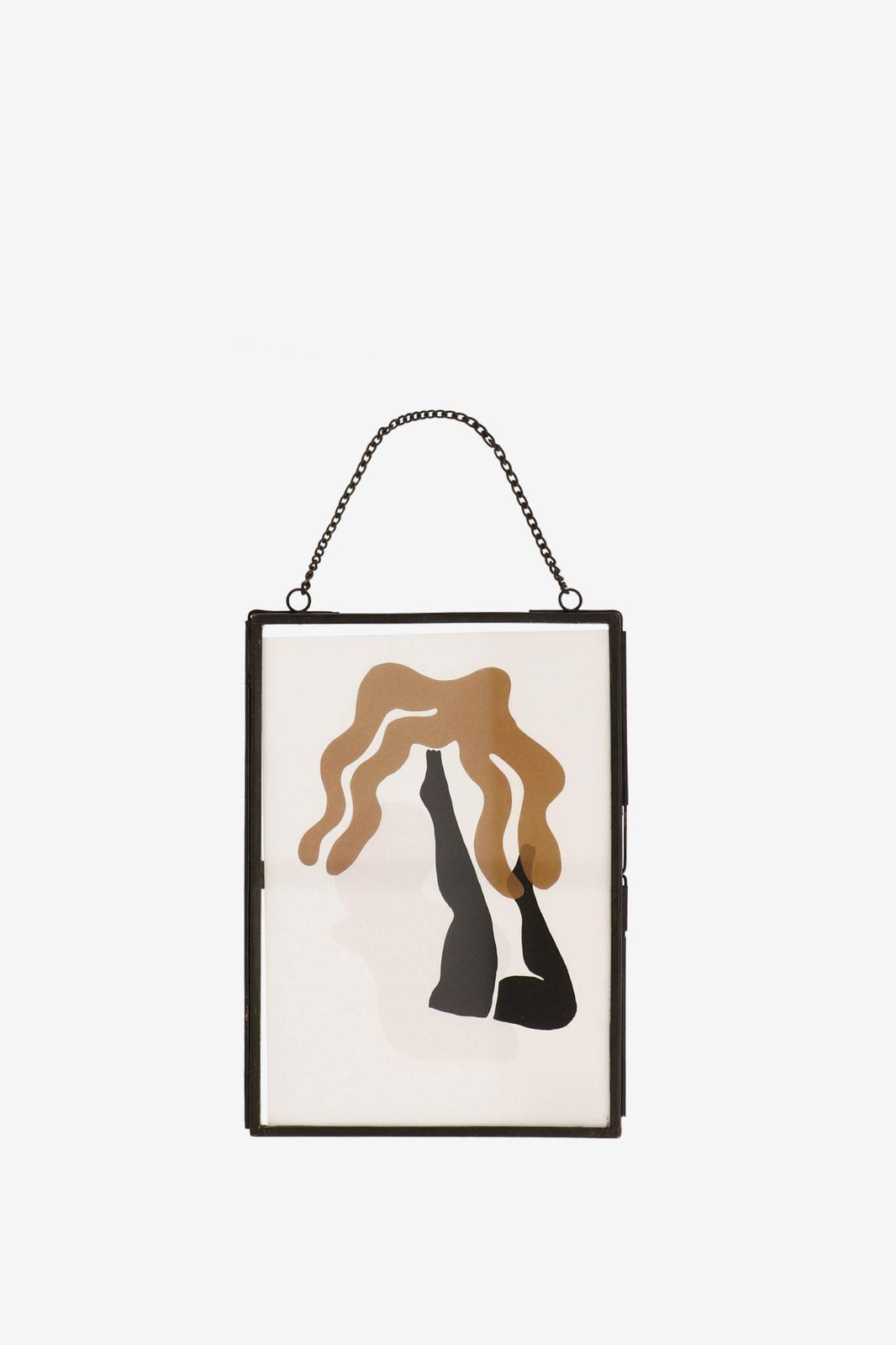 Fotolijst zwart hangend (15x20 cm)