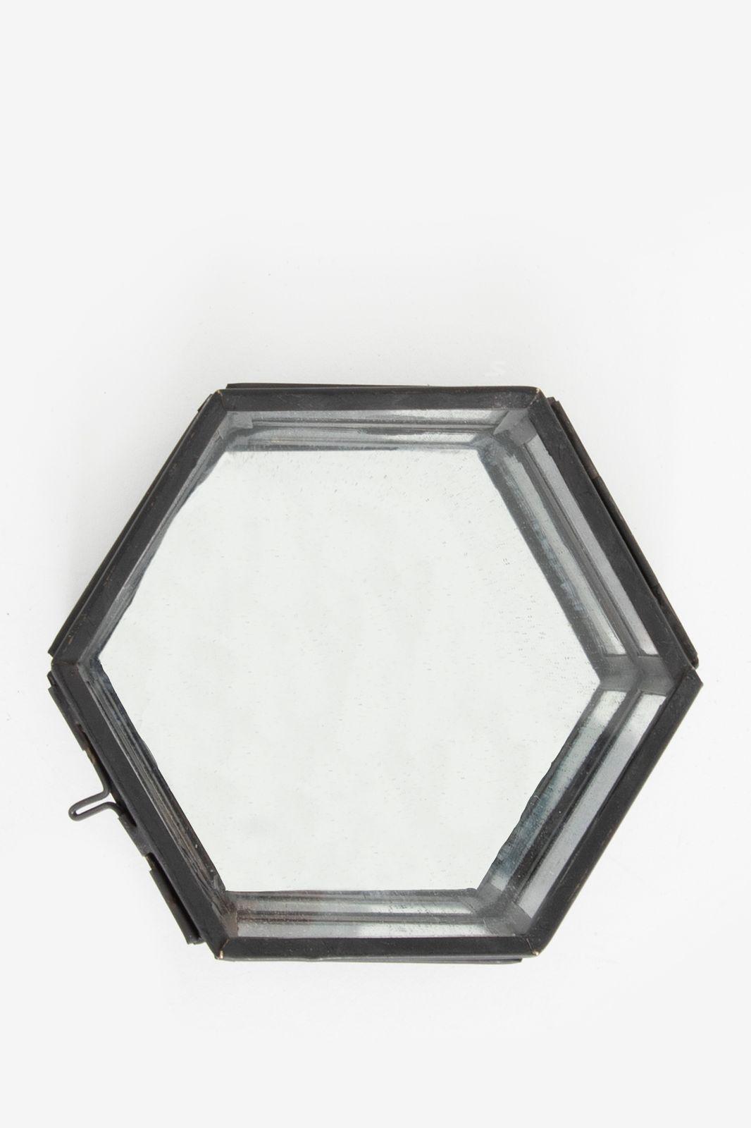 Zwart glazen box hexagon klein - Homeland | Sissy-Boy