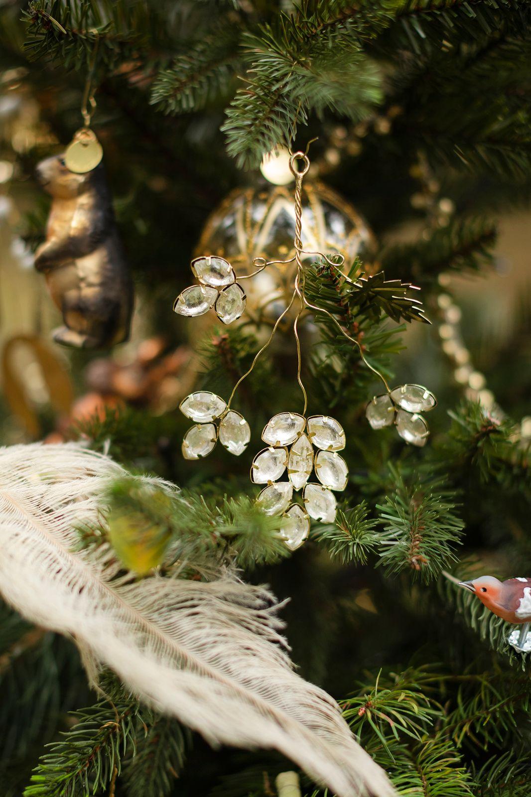 Suspension de Noël pierres