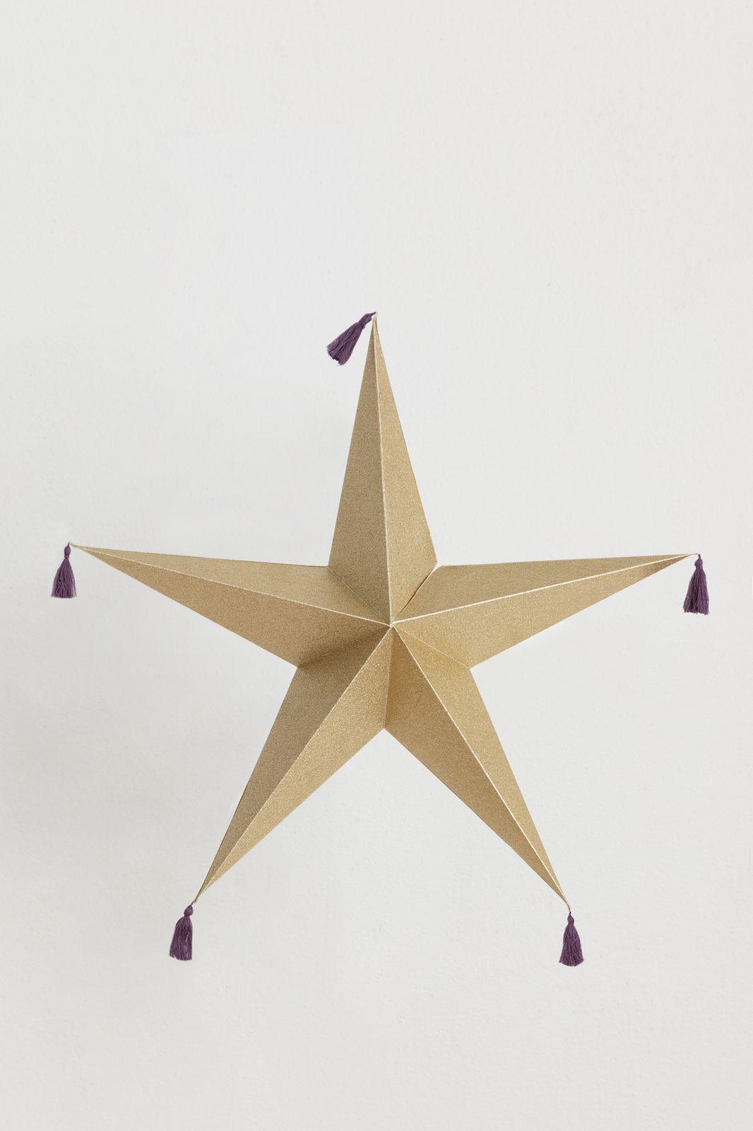 Gouden glitter ster met tassels (60 cm) - Homeland | Sissy-Boy