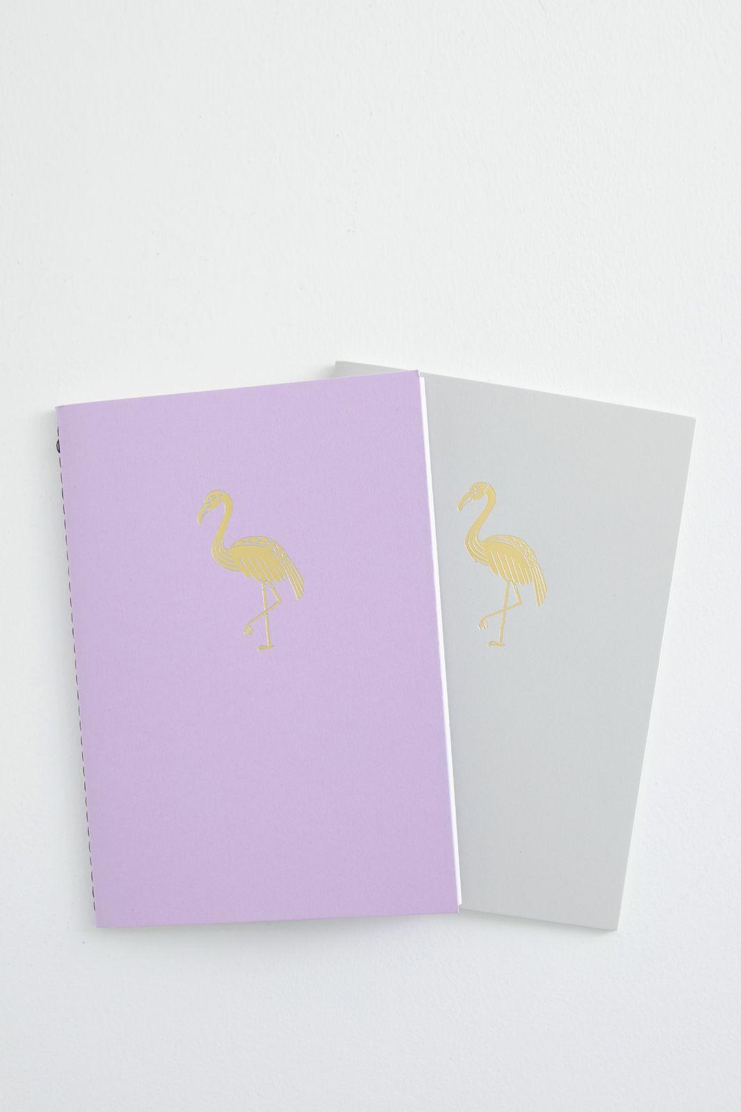 Notitieboekje Flamingo A5 (set van 2)