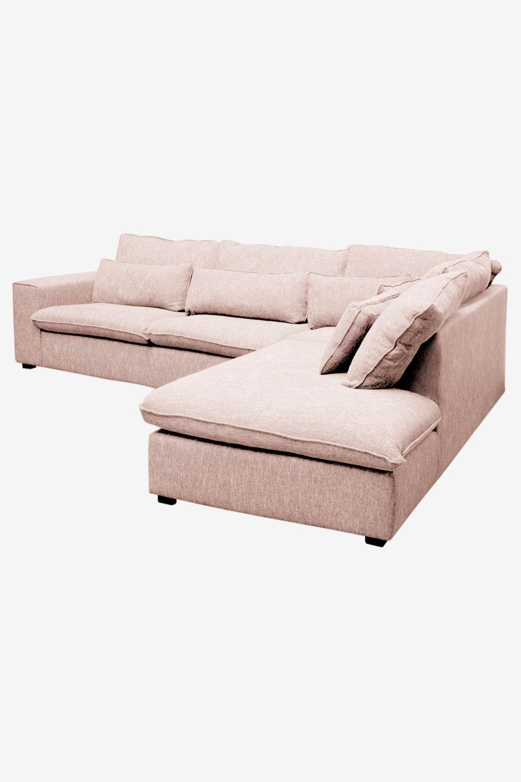 Baron bank 3.5-zits lounge rechts roze/karamel melee