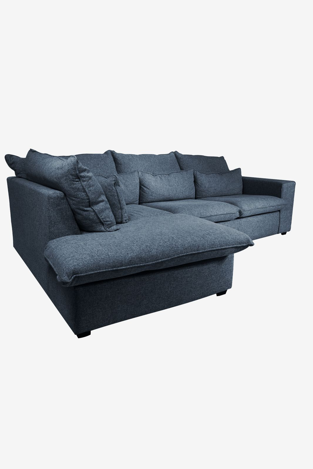 Baron bank 2.5-zits lounge links donkerblauw melee