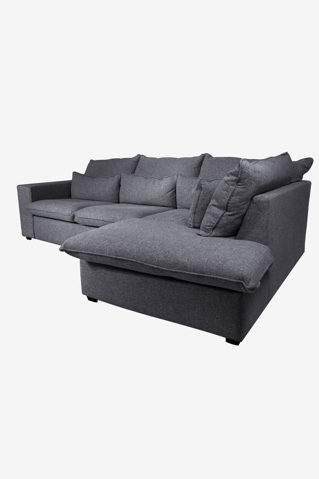 Baron bank 2.5-zits lounge rechts donkergrijs melee