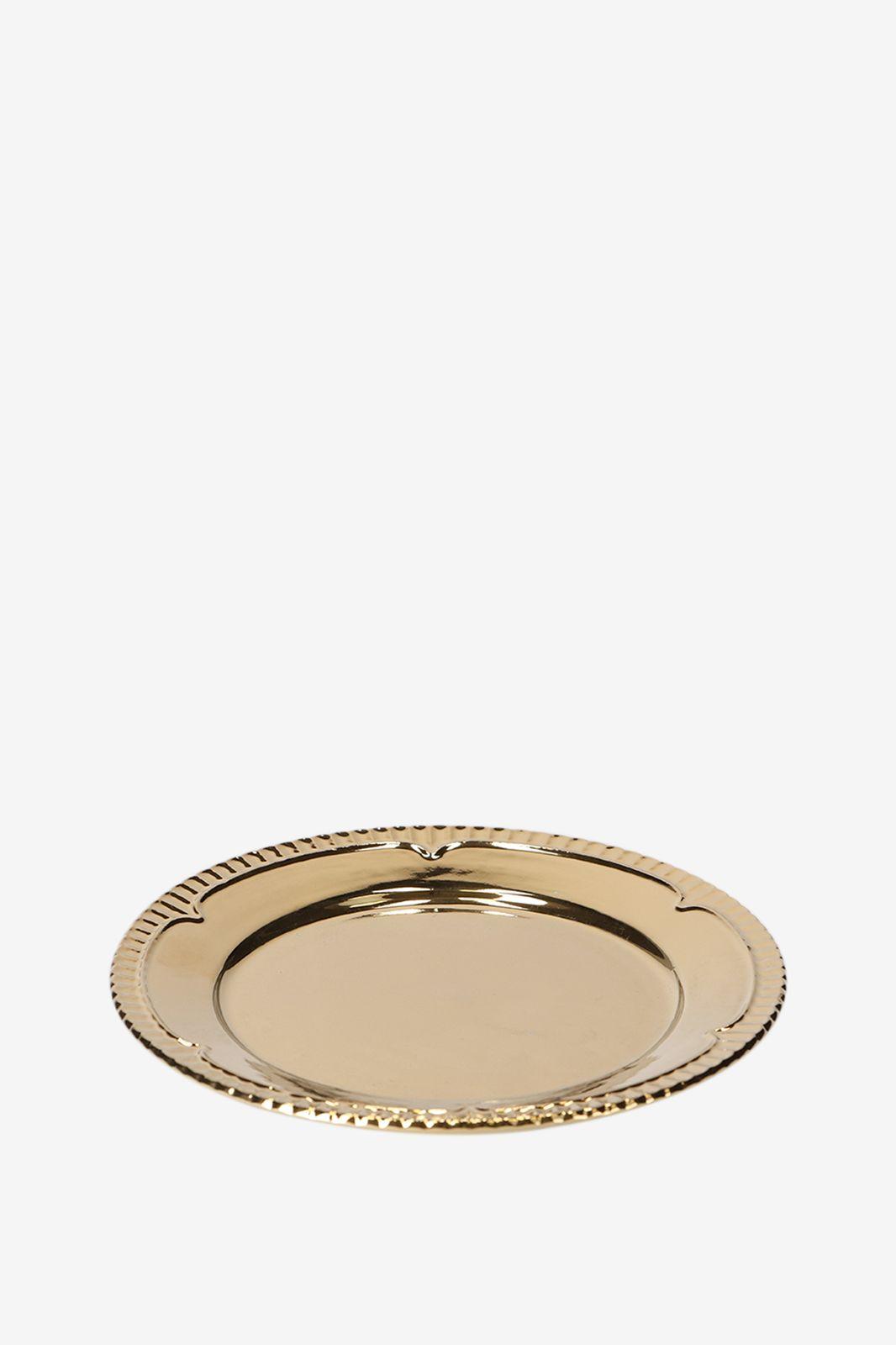 Gouden porseleinen dessertborden deco gold - Homeland | Sissy-Boy