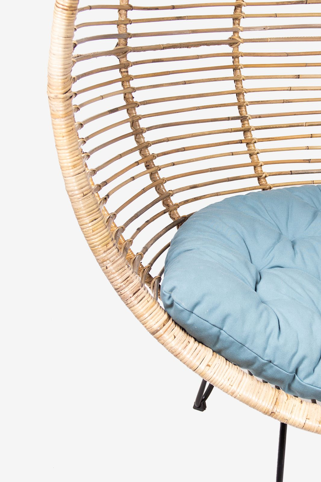 Lichtbruine egg chair met voet - Homeland | Sissy-Boy