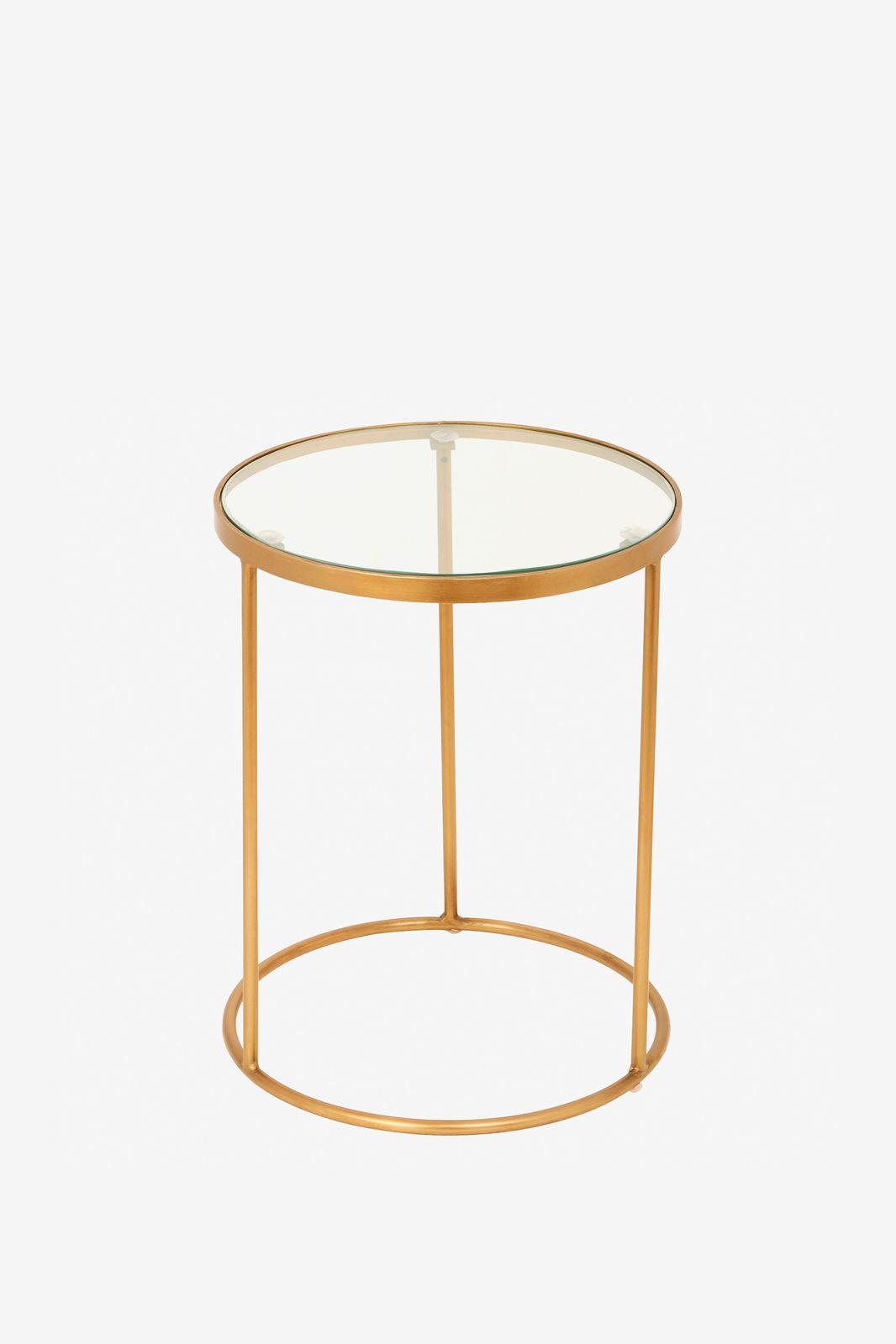 Ronde tafel met glazen plaat