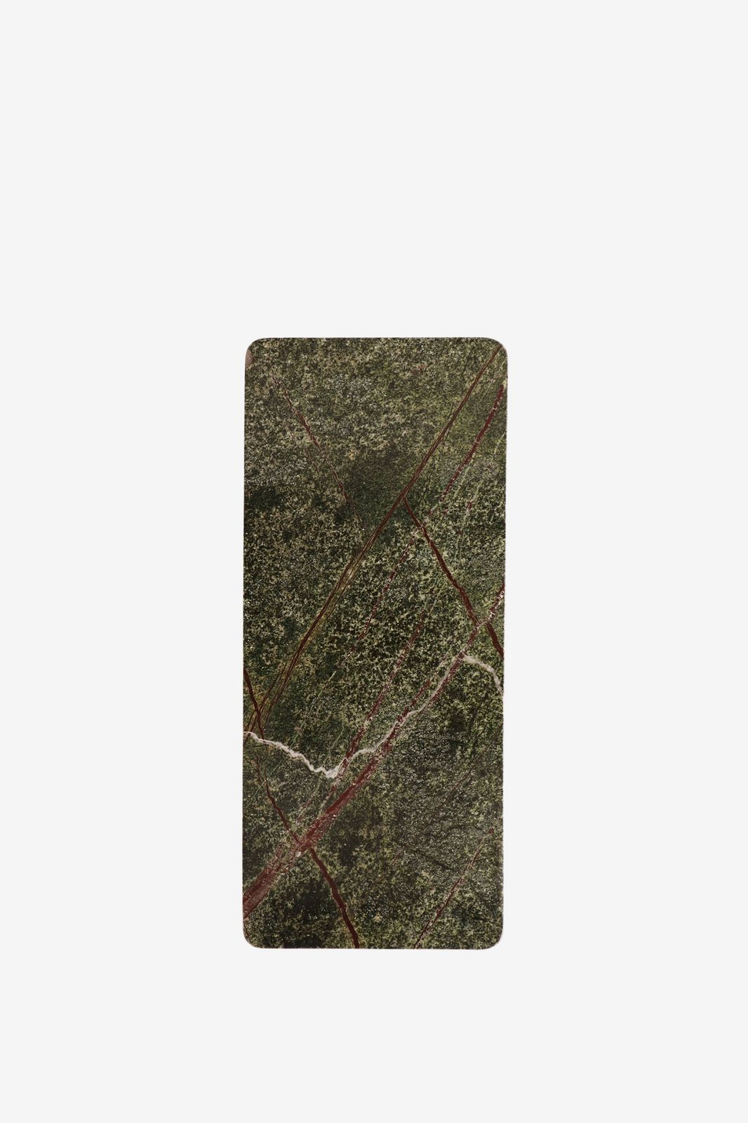Donkergroene serveerplank marmer