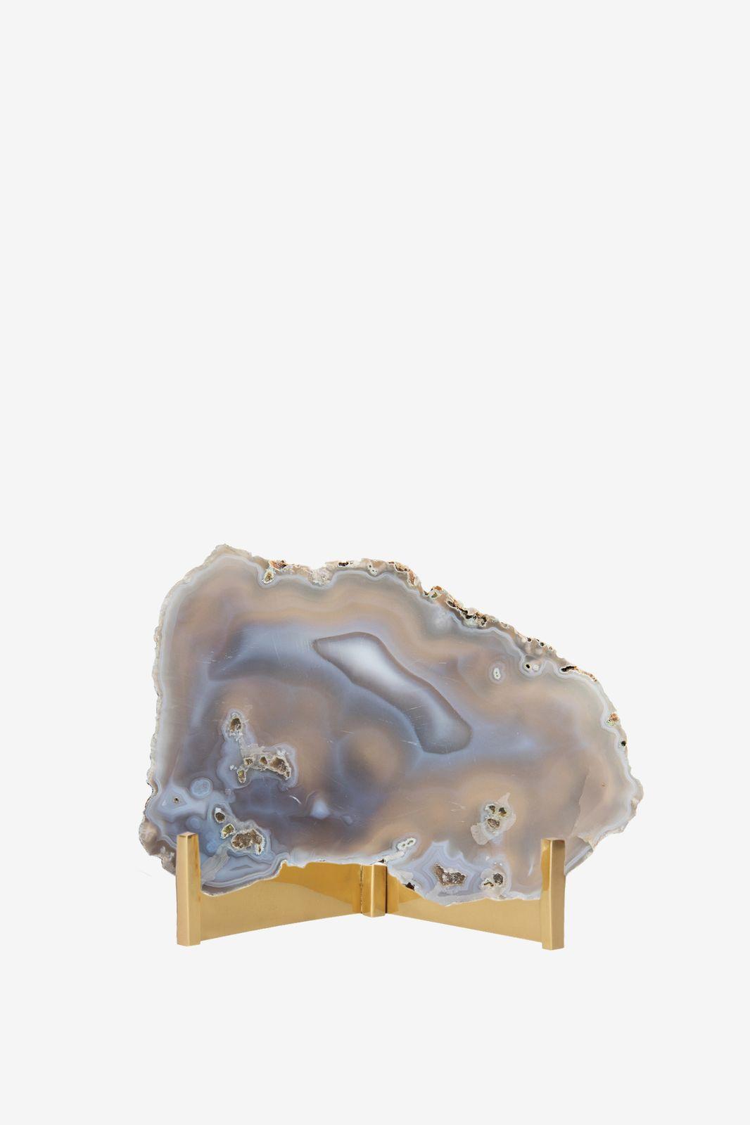 Paarse agaat steen met houder - Homeland | Sissy-Boy