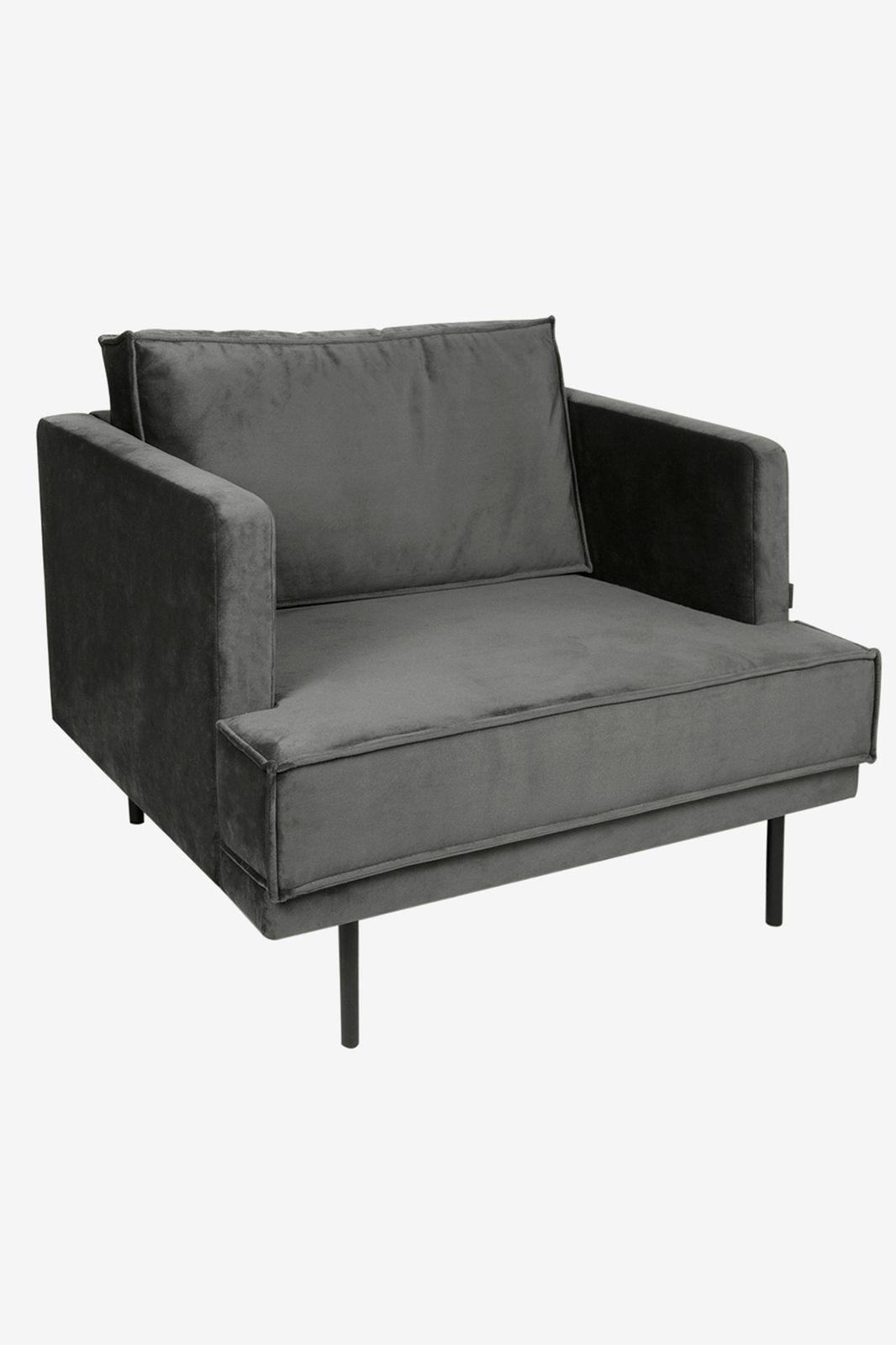 The Duchess velvet loveseat antraciet