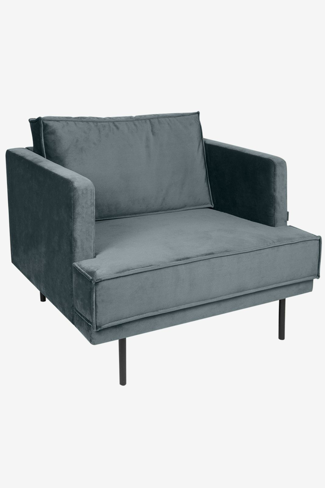 The Duchess velvet loveseat grijs