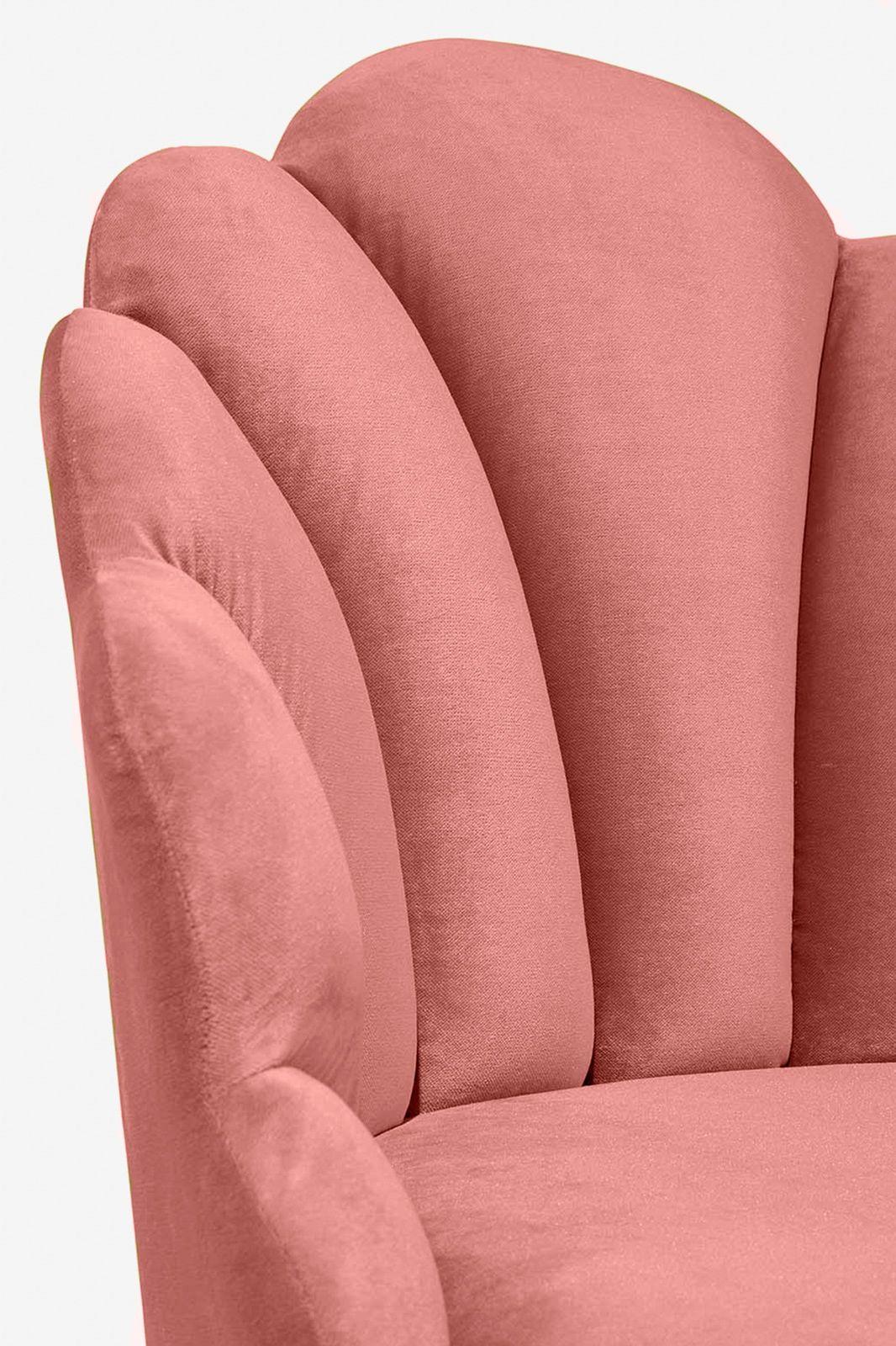 Roze velvet schelpstoel - Homeland | Sissy-Boy