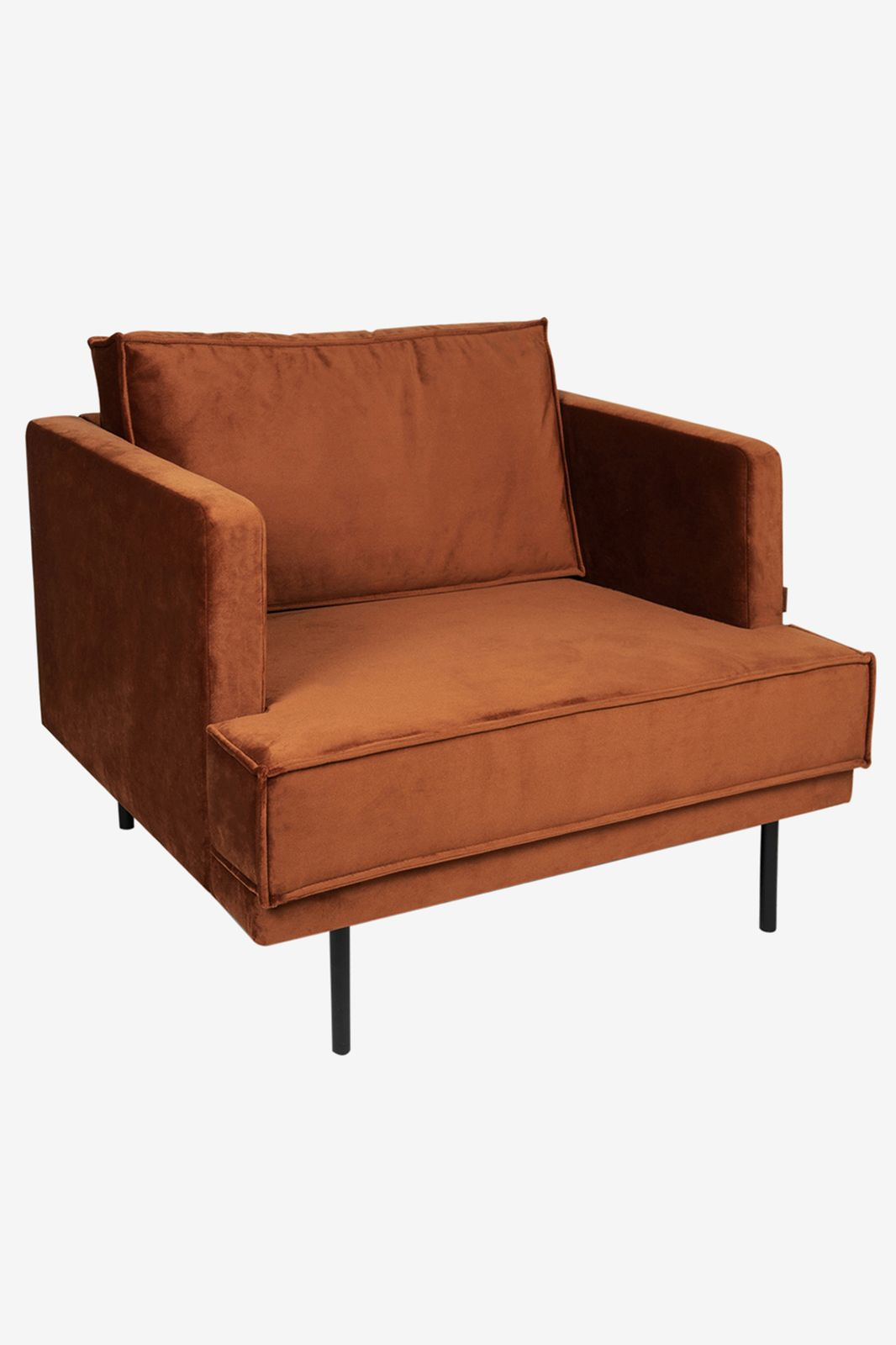 The Duchess velvet loveseat roest