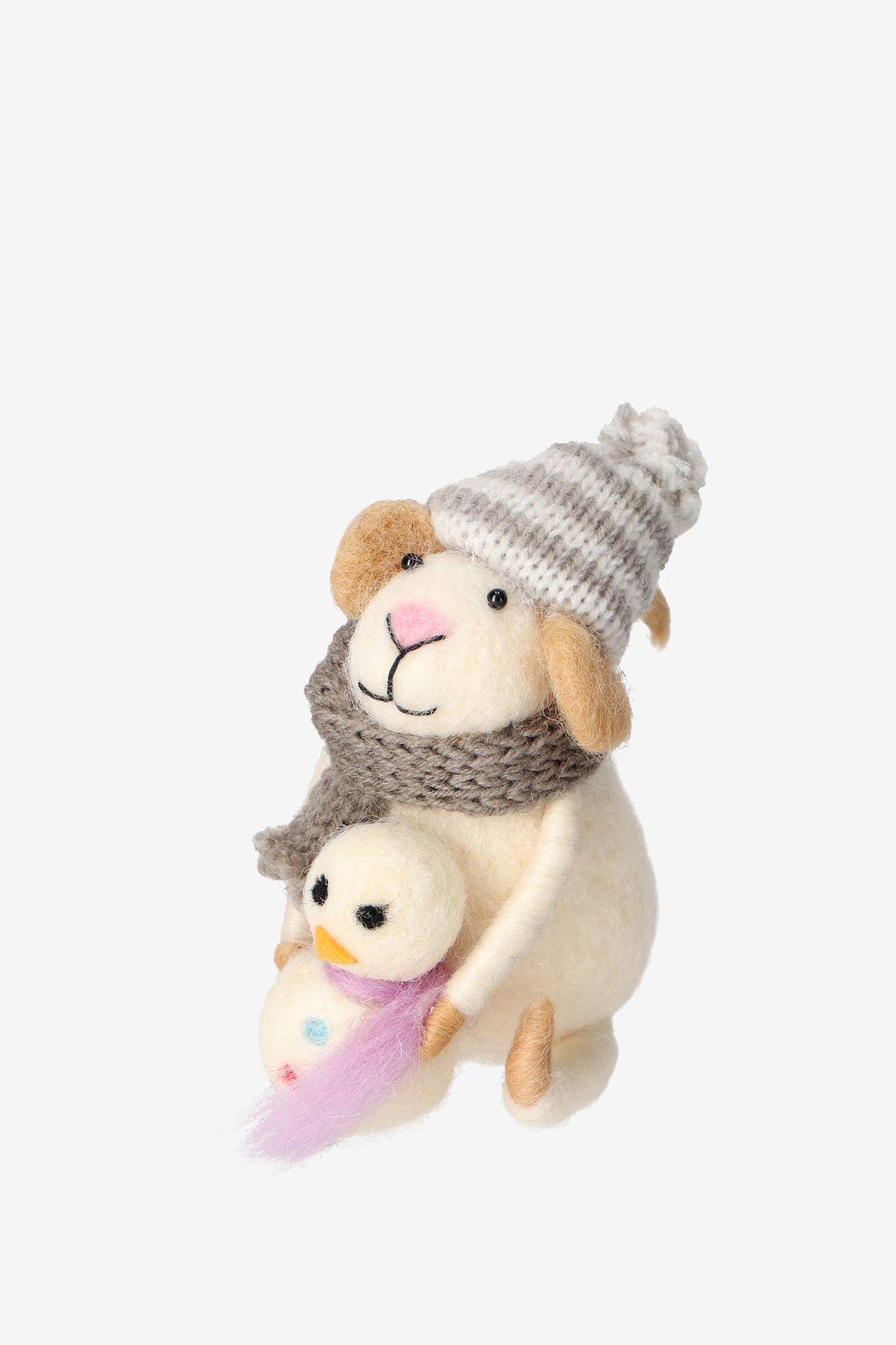 Vilten muis sneeuwpop 13 cm - Homeland | Sissy-Boy