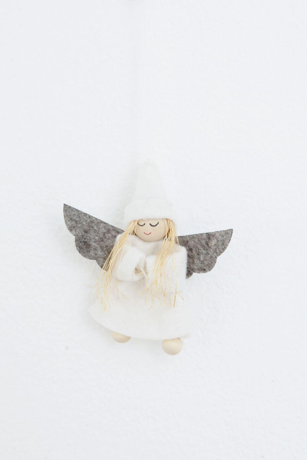 Kersthanger vilten engeltje