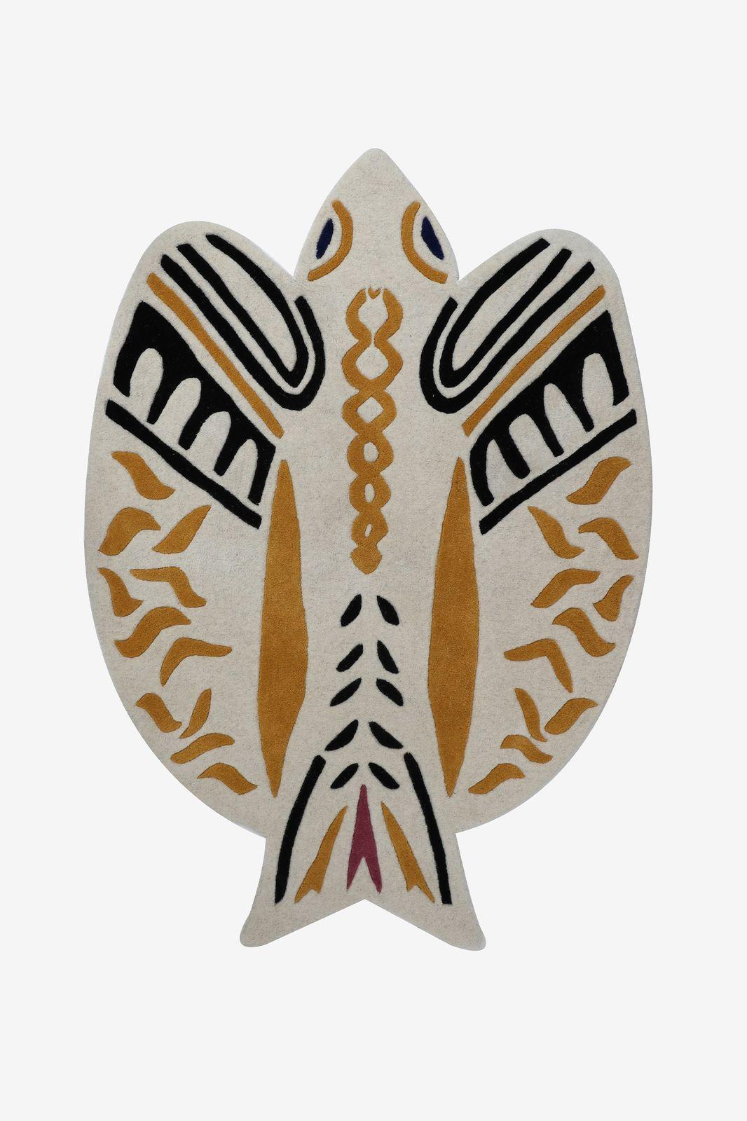 Vloerkleed vogel etnische print