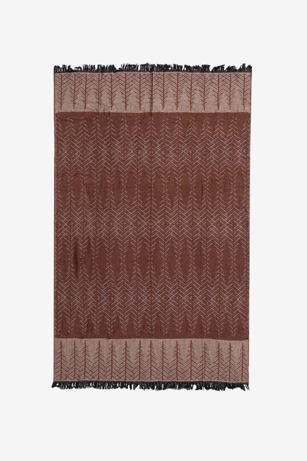 Bruine deken graphic ruit