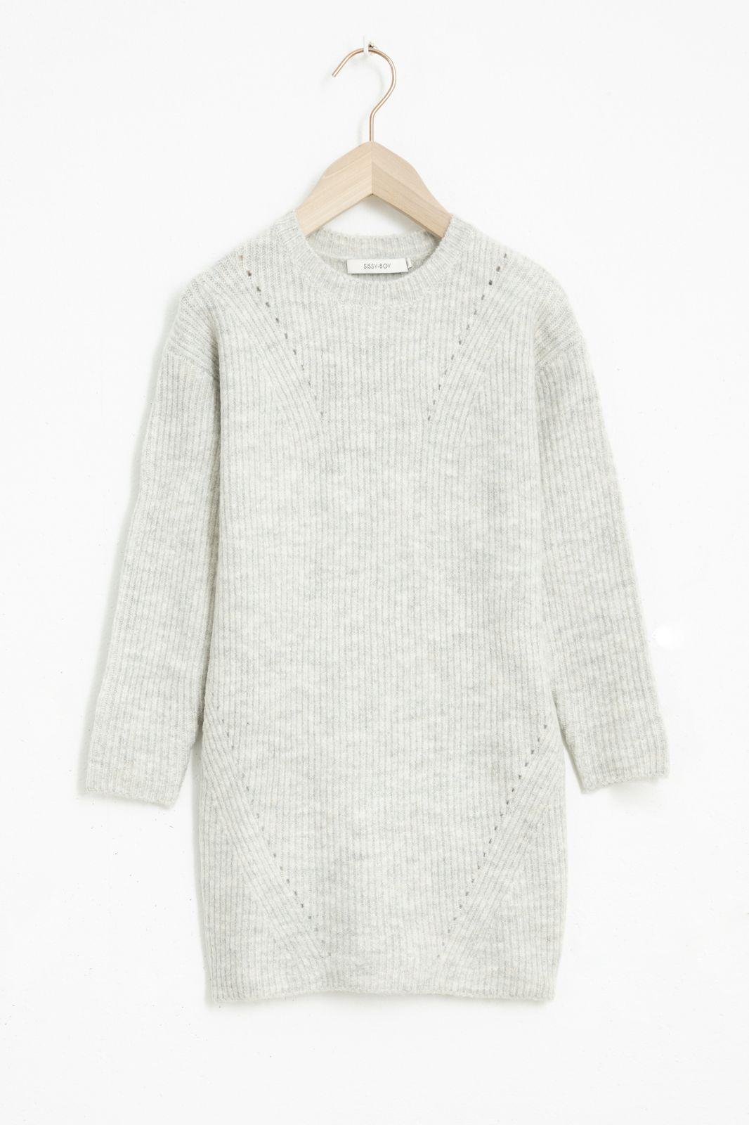Grijze knit jurk - Kids | Sissy-Boy