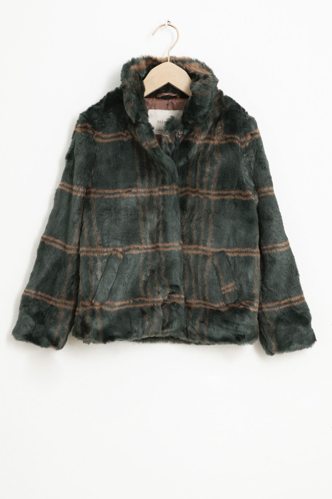 Groen faux fur jasje - Kids | Sissy-Boy
