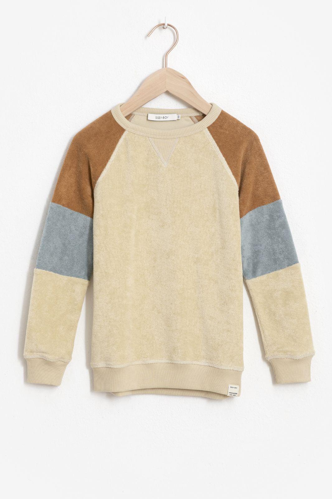 Beige colorblock sweater - Kids | Sissy-Boy