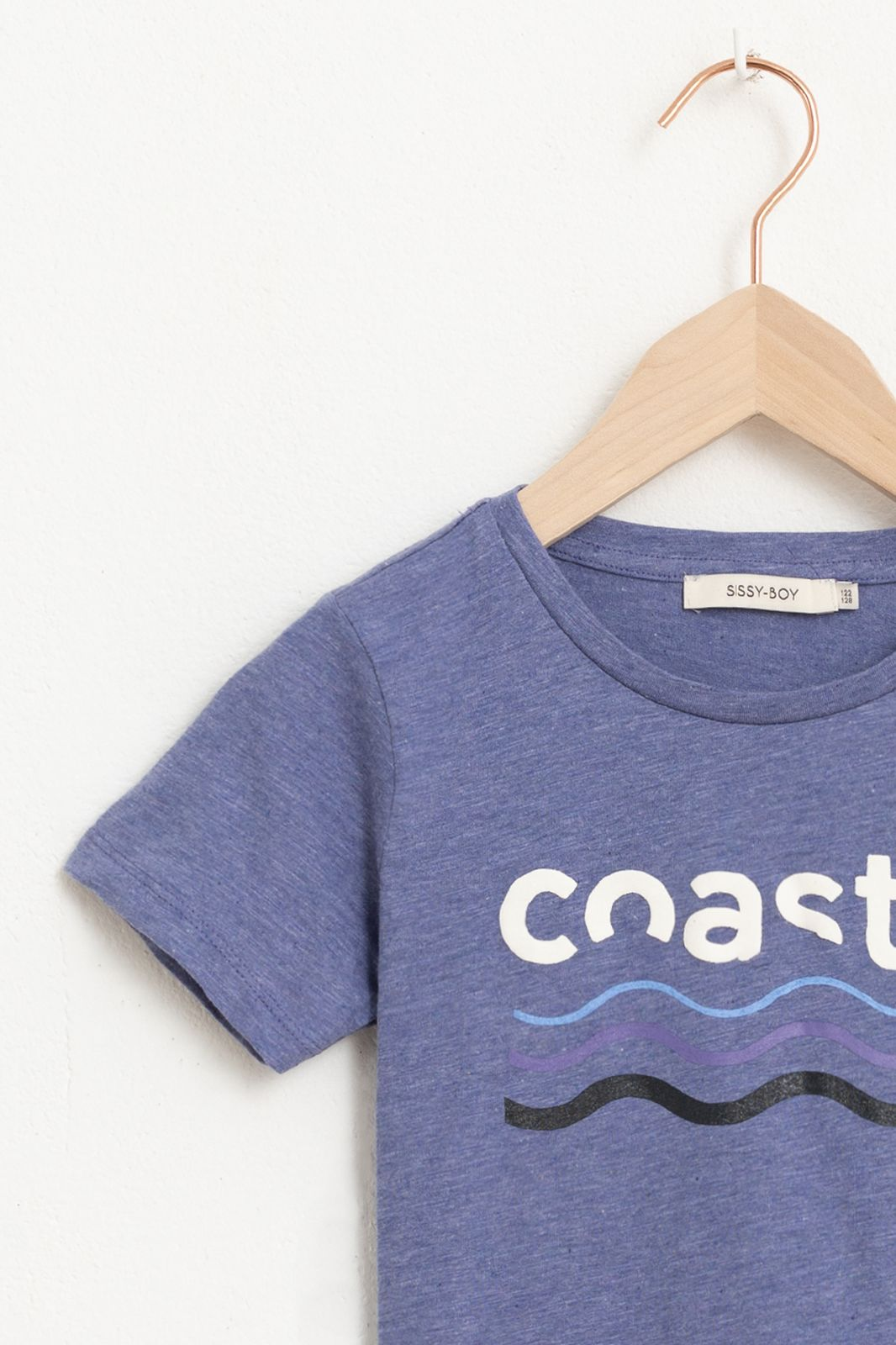 Blauw T-shirt met korte mouw en tekst - Kids | Sissy-Boy