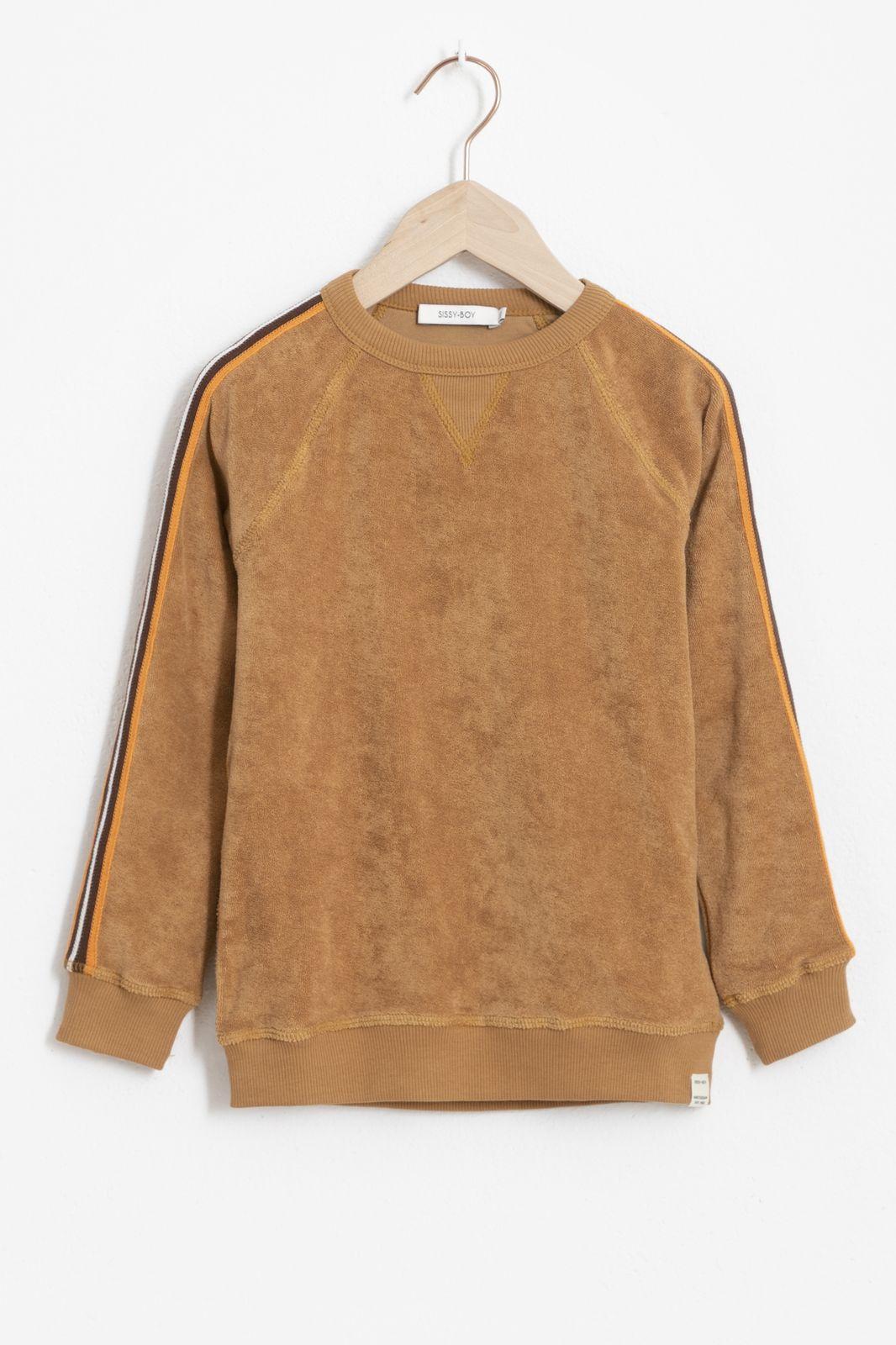 Bruine sweater met side tape - Kids | Sissy-Boy