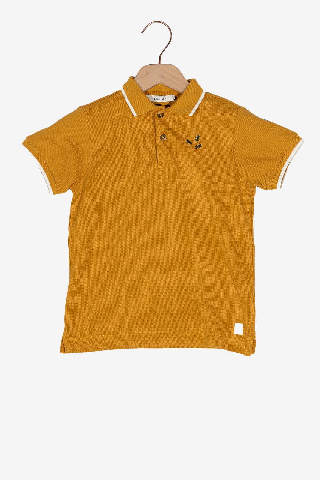 Gele polo met geborduurde mieren - Kids   Sissy-Boy