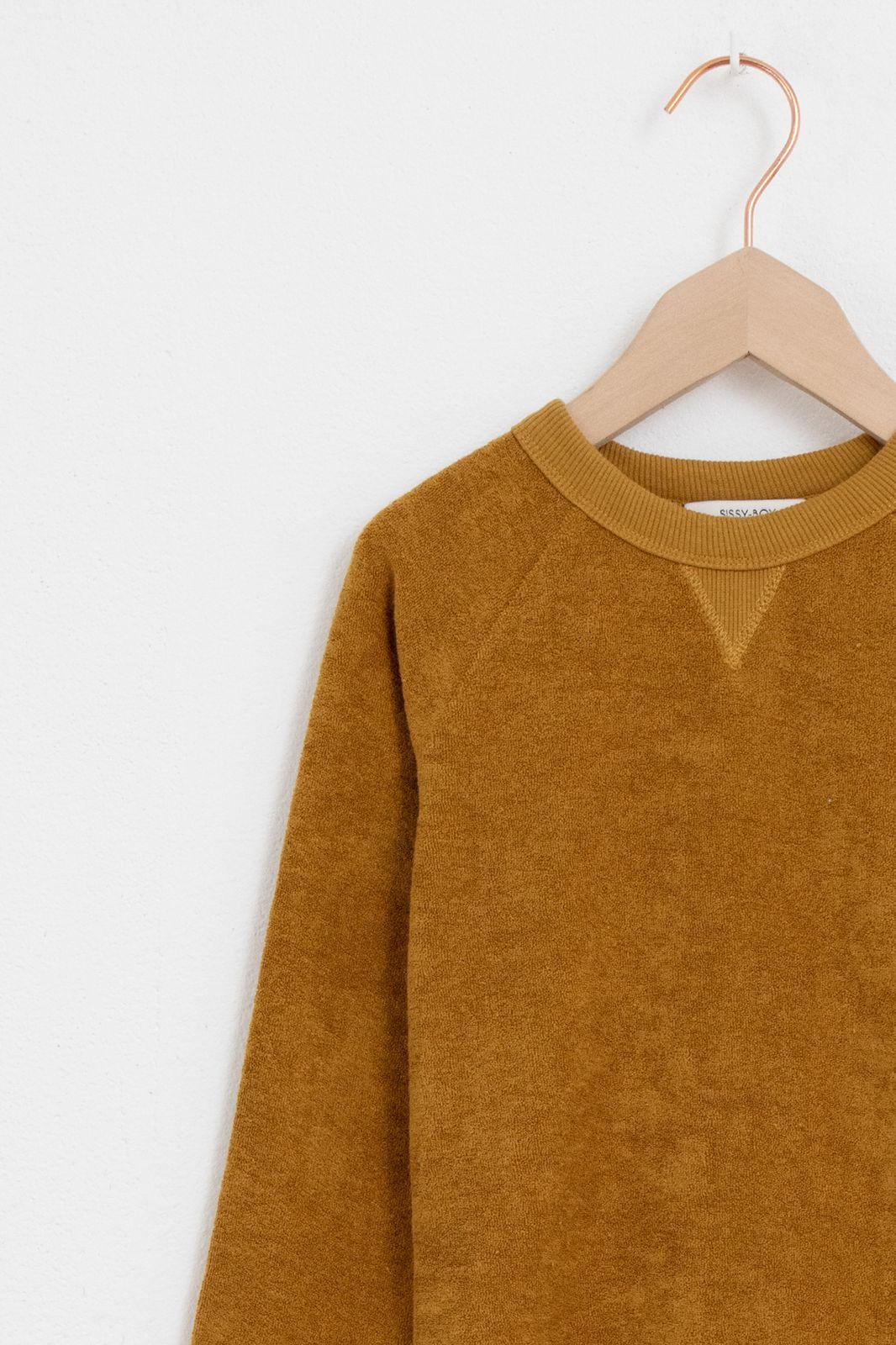 Donkergele velour sweater - Kids | Sissy-Boy