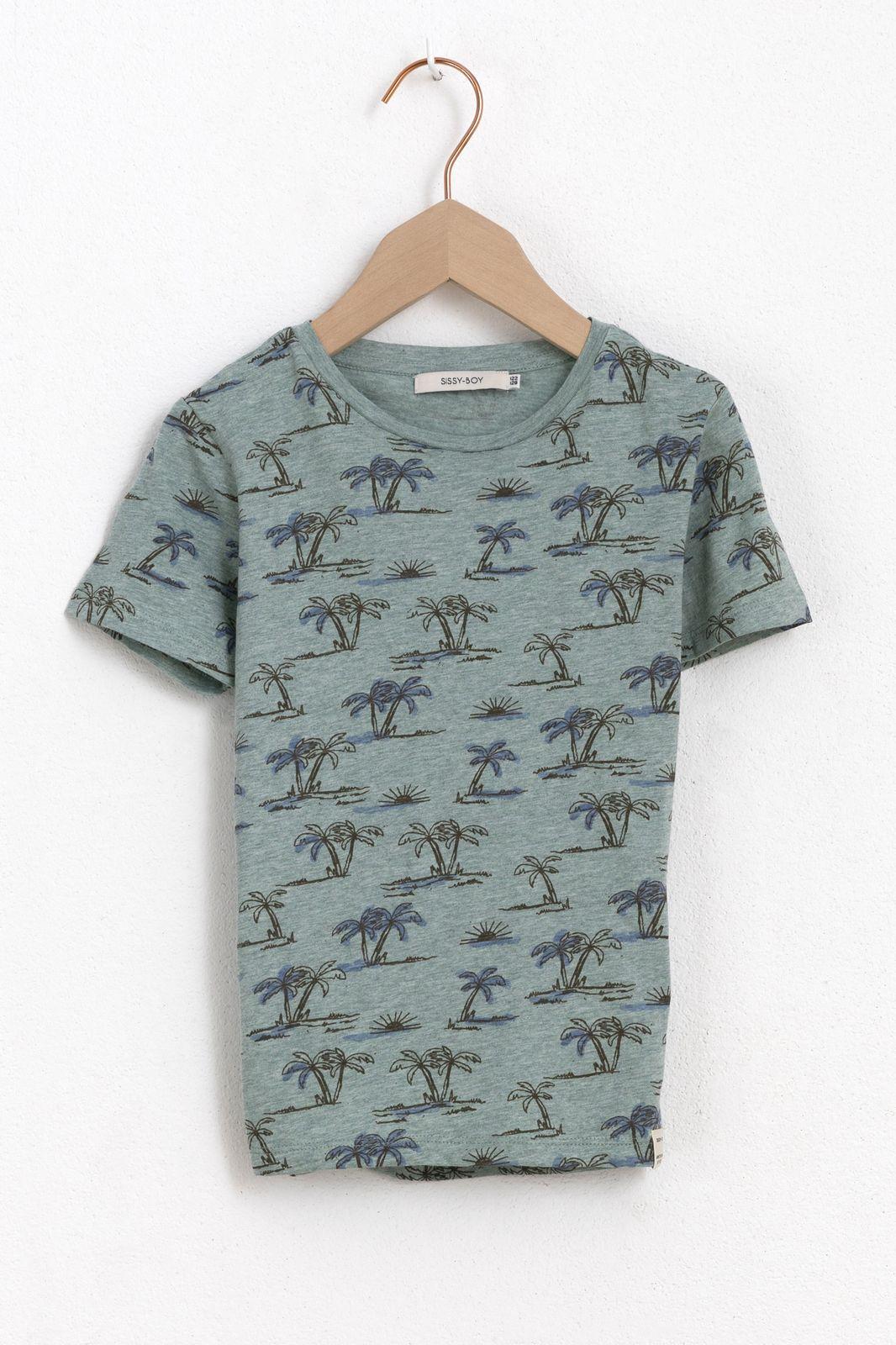 Groen t-shirt met palmbomen
