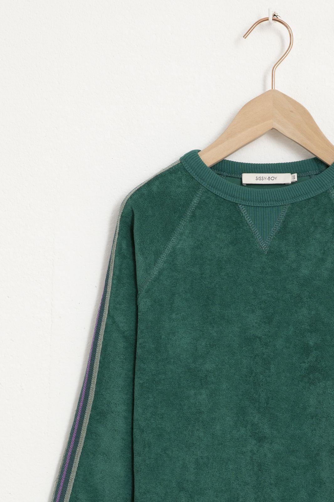 Groene velours sweater - Kids   Sissy-Boy