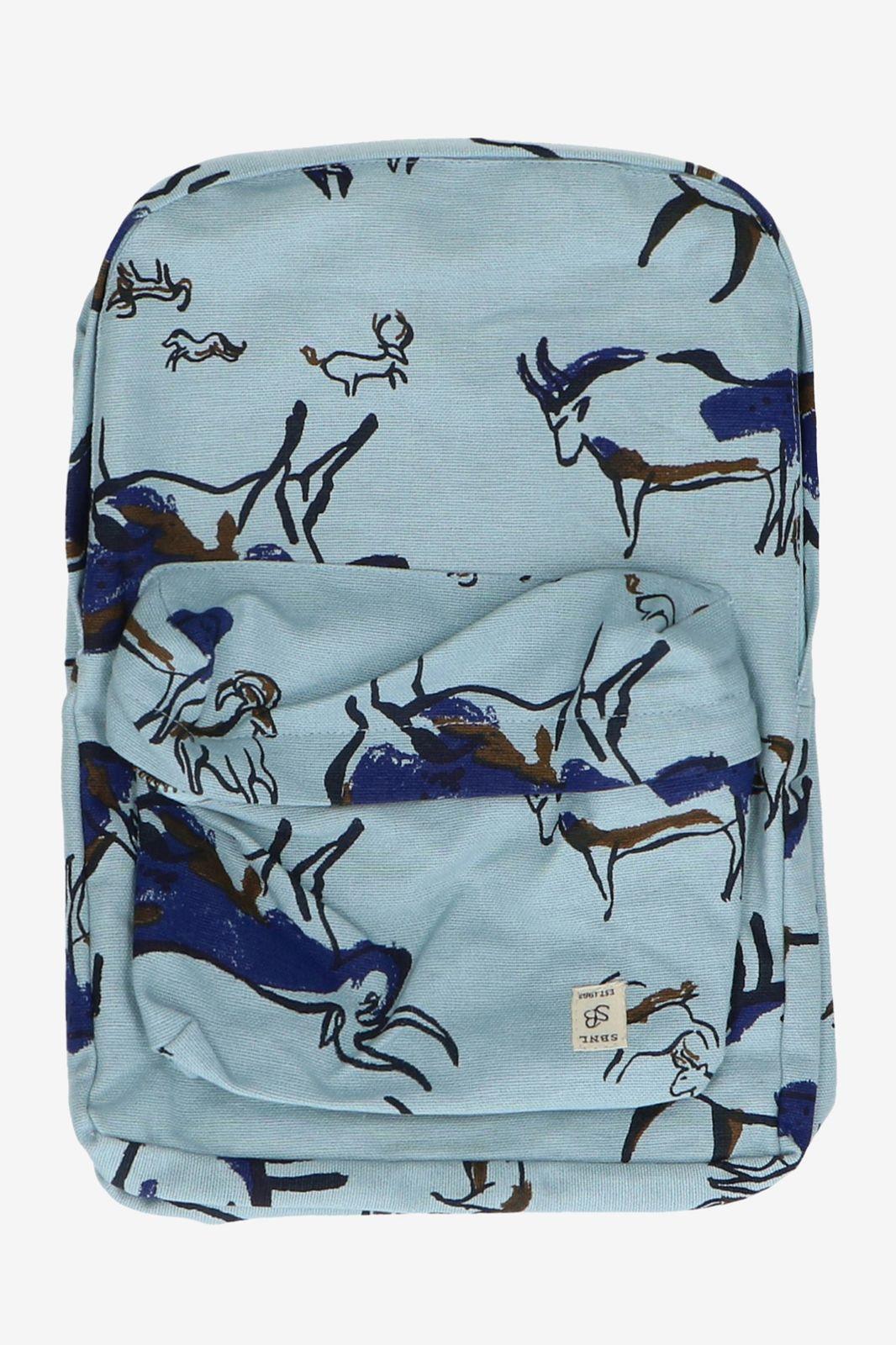 Blauwkleurige rugzak met stieren - Kids | Sissy-Boy