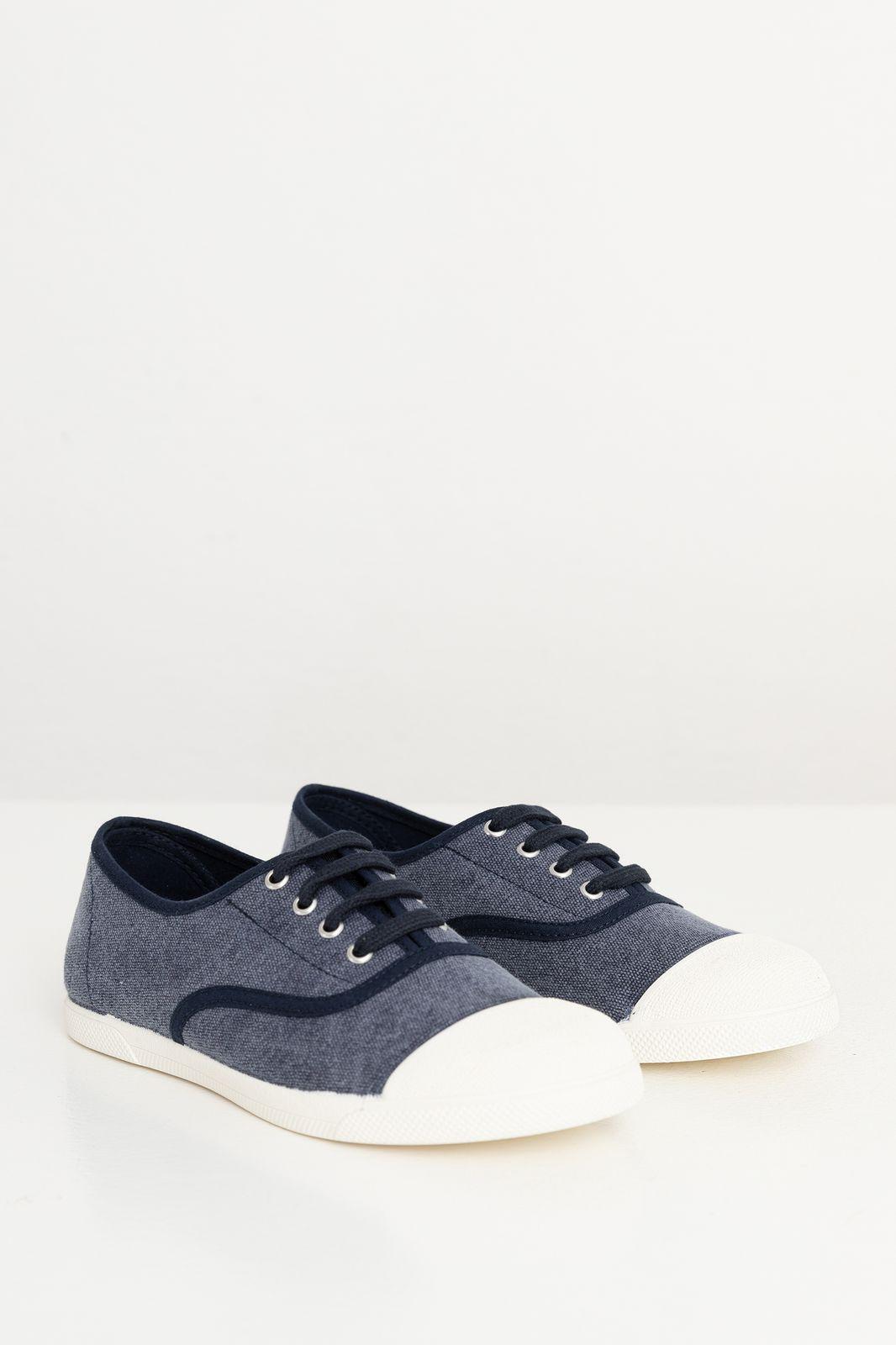 Donkerblauwe canvas sneaker - Kids | Sissy-Boy