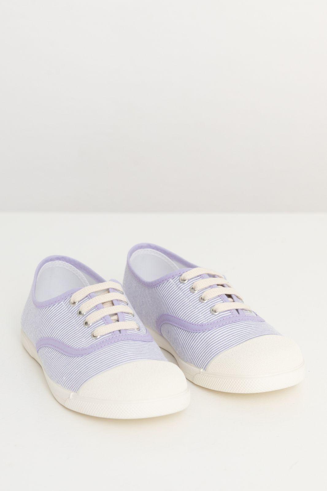 Lila gestreepte canvas sneakers - Kids | Sissy-Boy