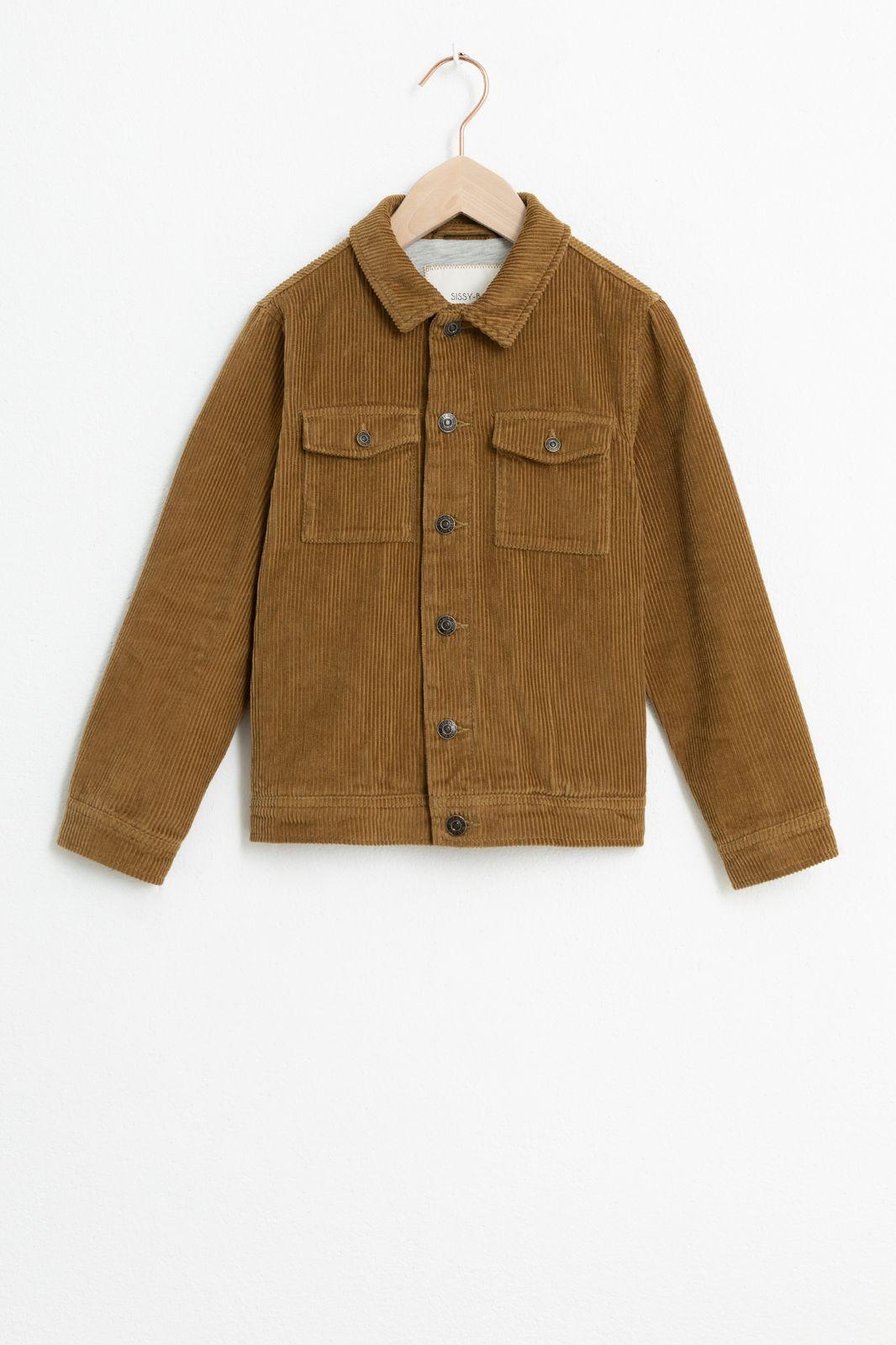Bruin corduroy jasje