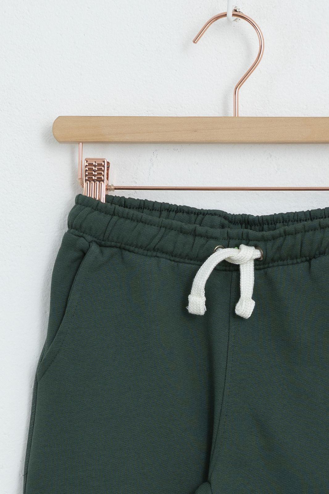 Short en coton - vert foncé