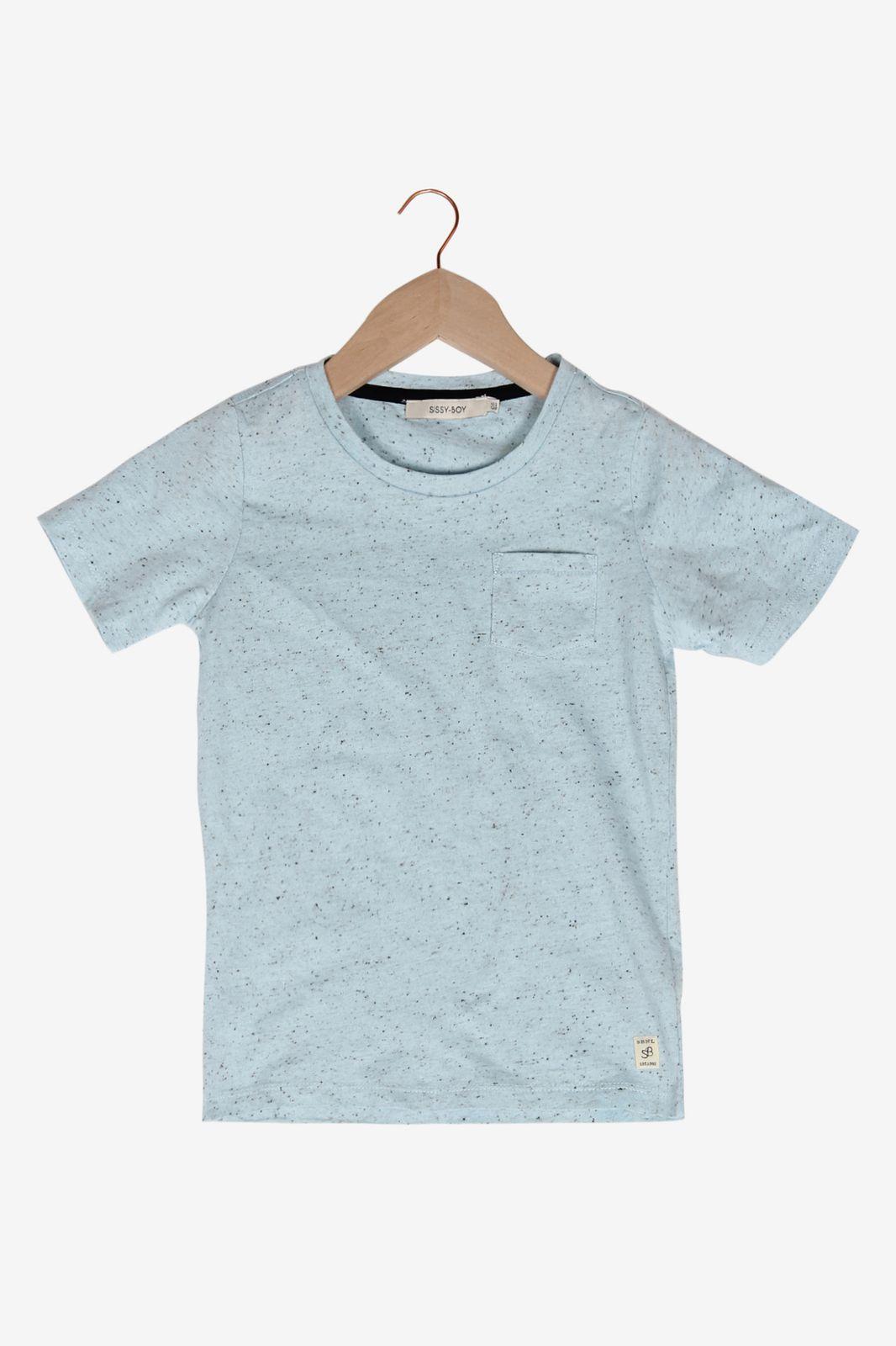 Lichtblauw gespikkeld T-shirt