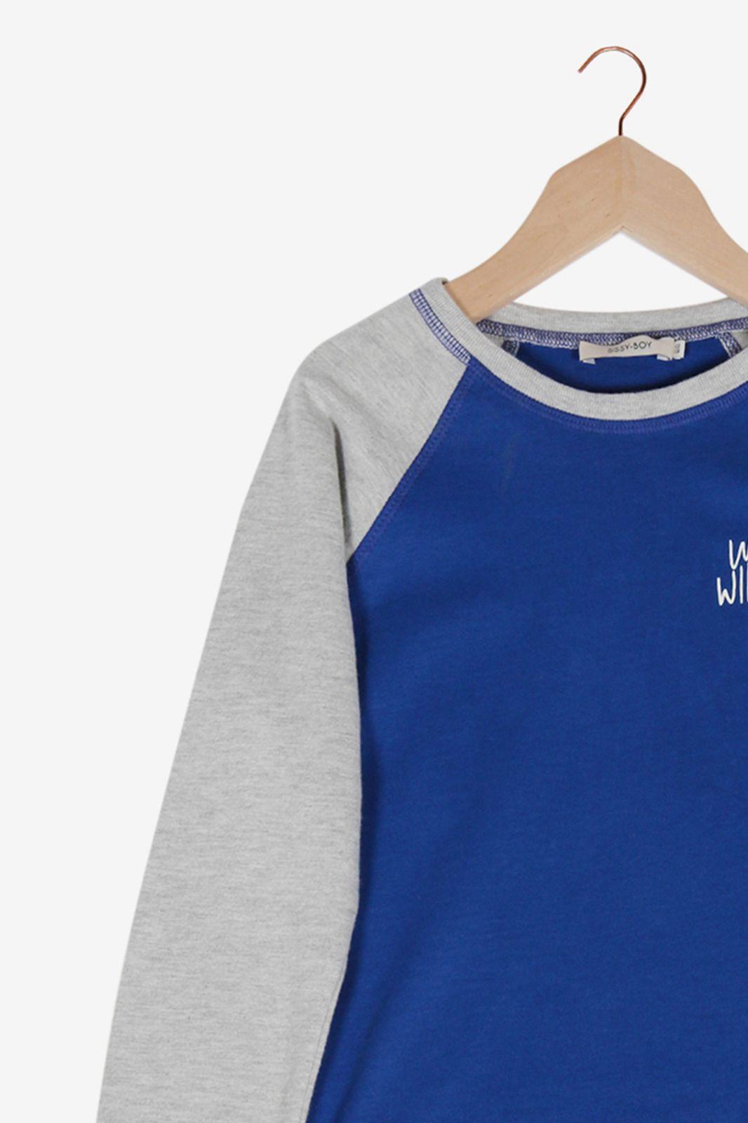 Blauw T-shirt met tekst - Kids   Sissy-Boy