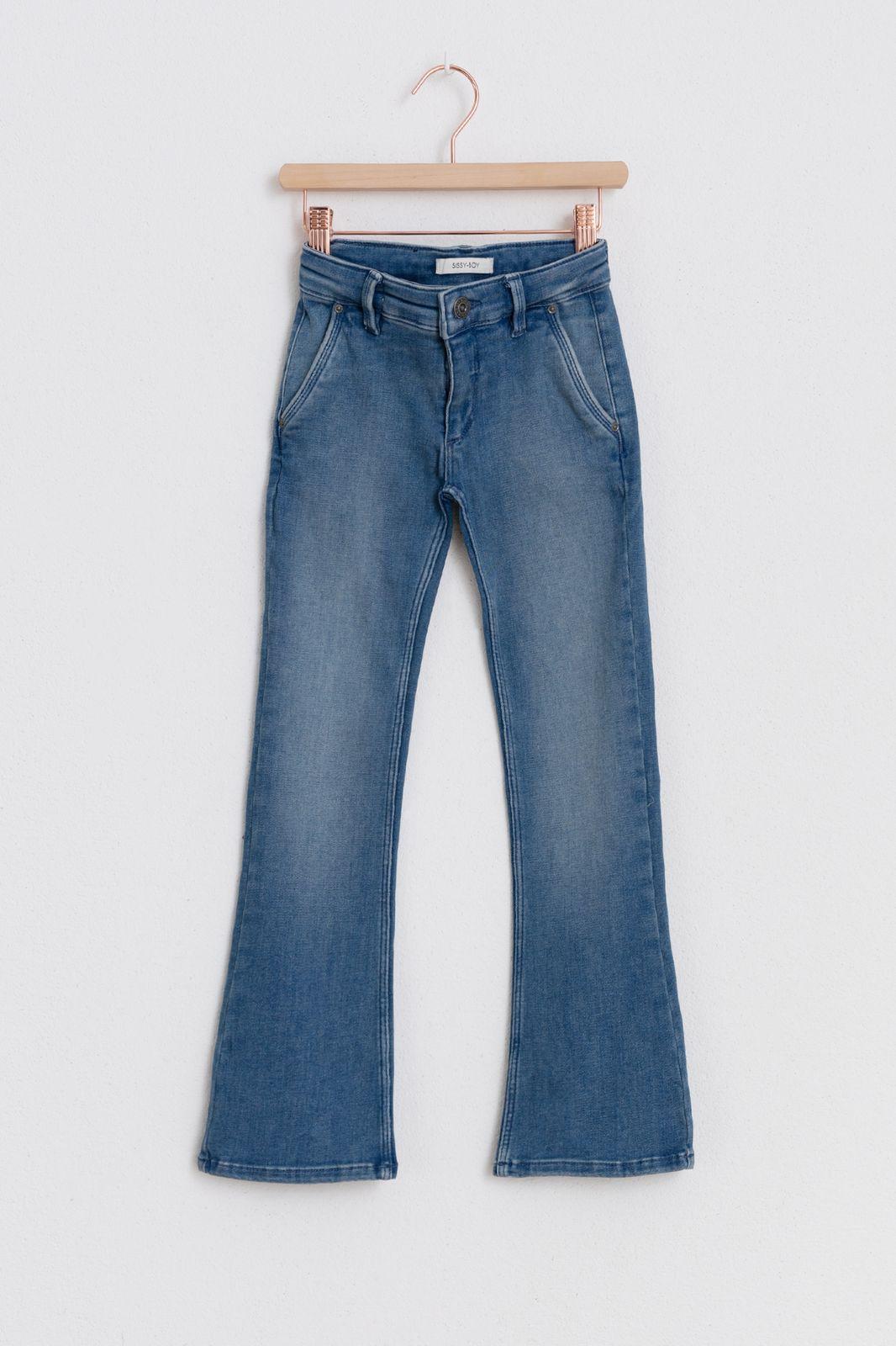 Denim flared jeans