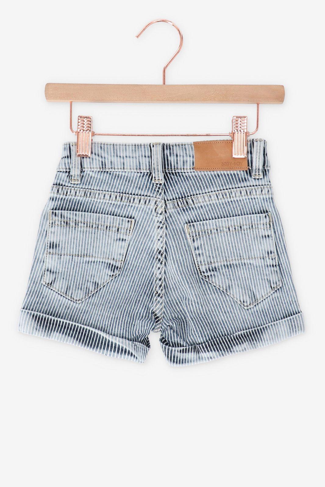 Gestreepte korte jeans