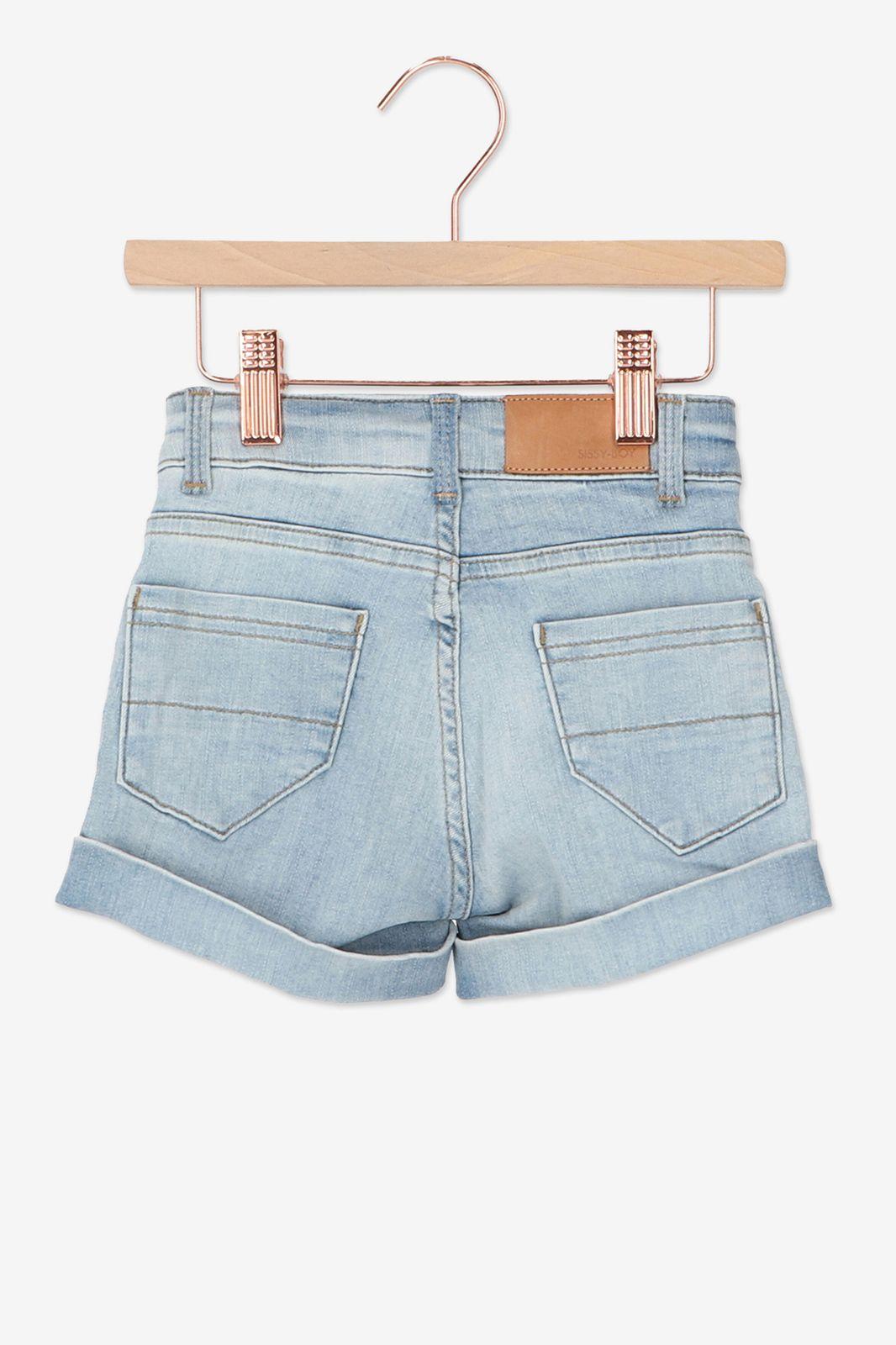 Lichtblauw denim shorts