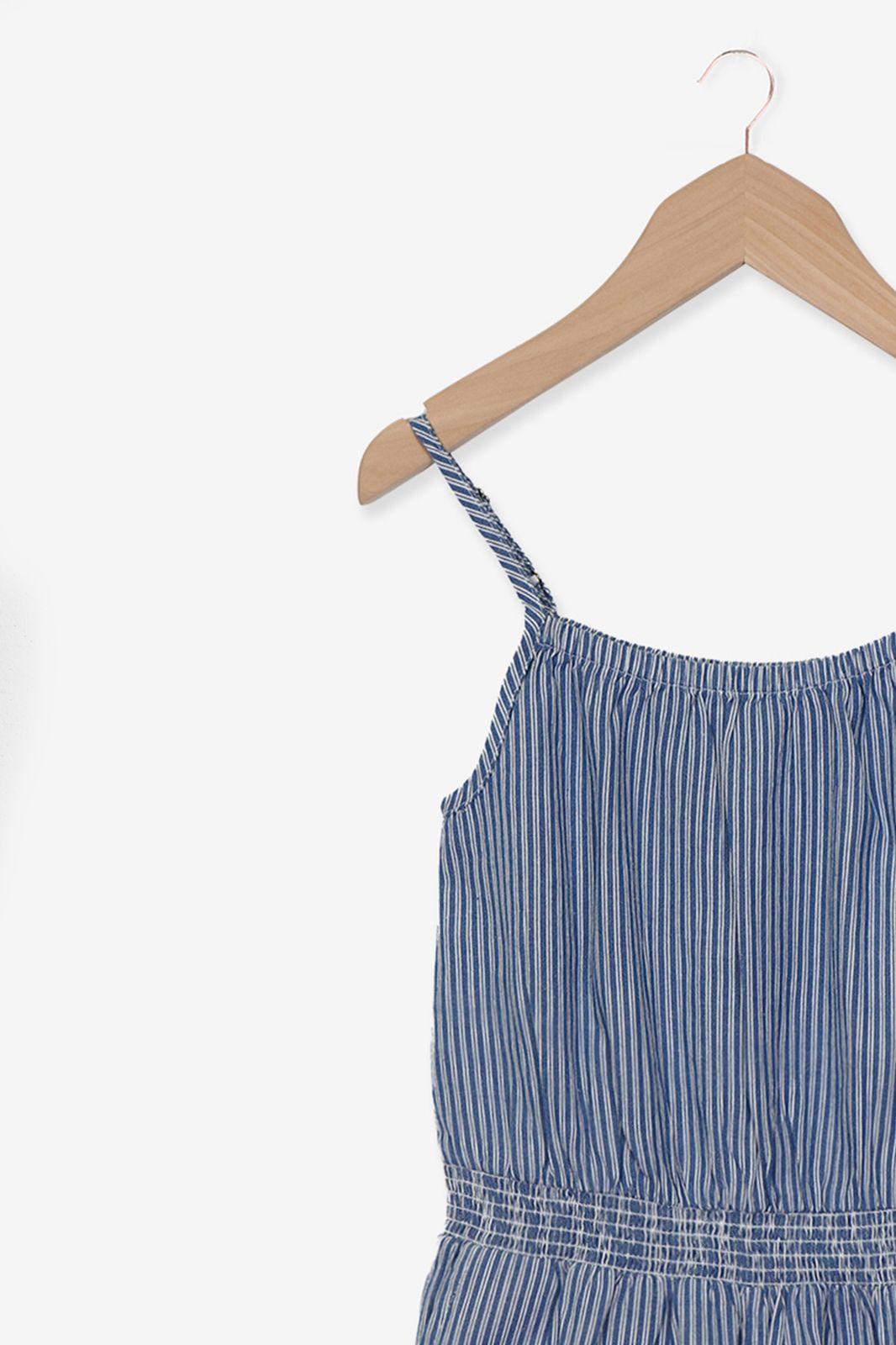 Blauw gestreepte jumpsuit - Kids | Sissy-Boy