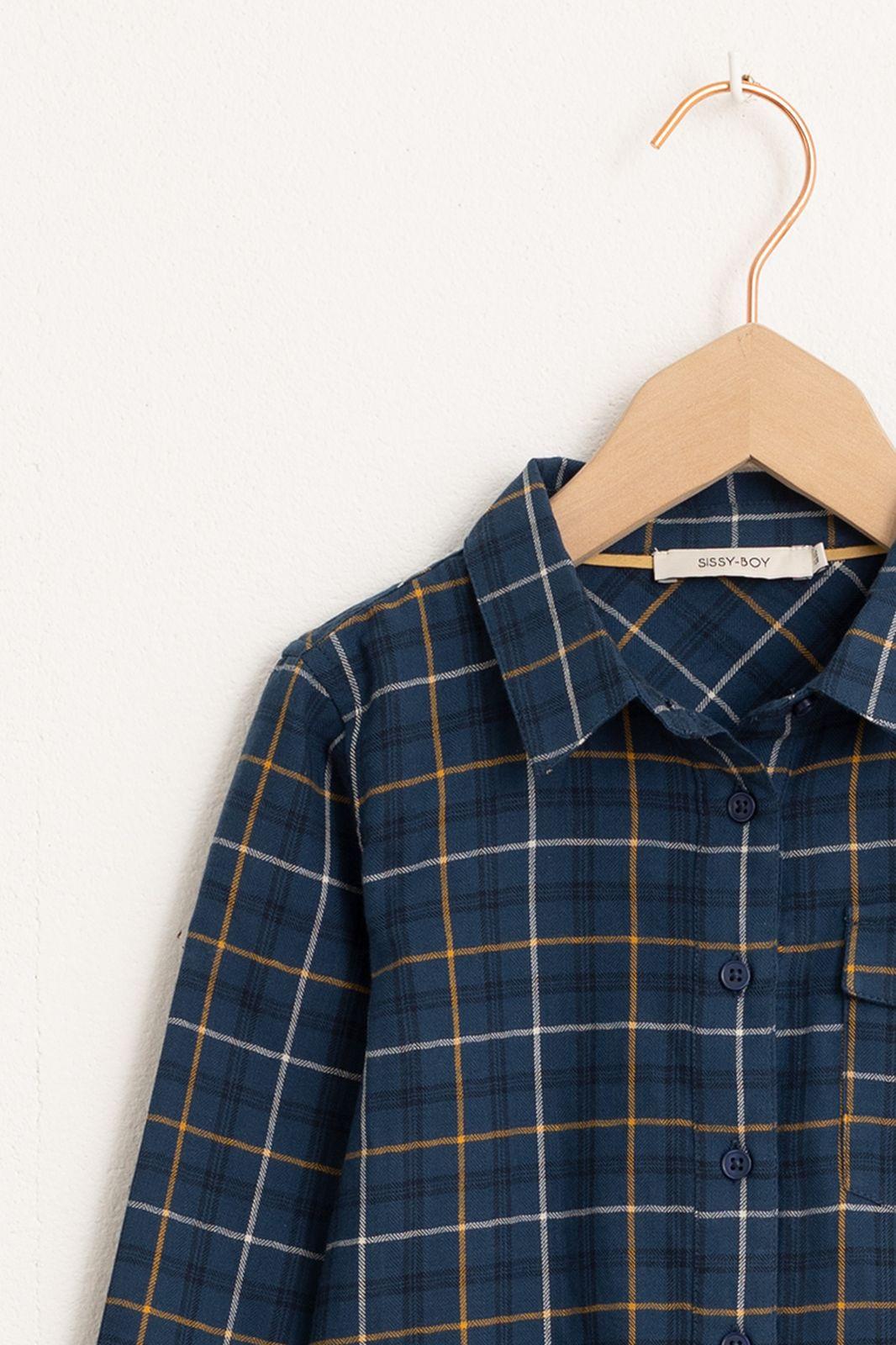 Blauw overhemd geruit