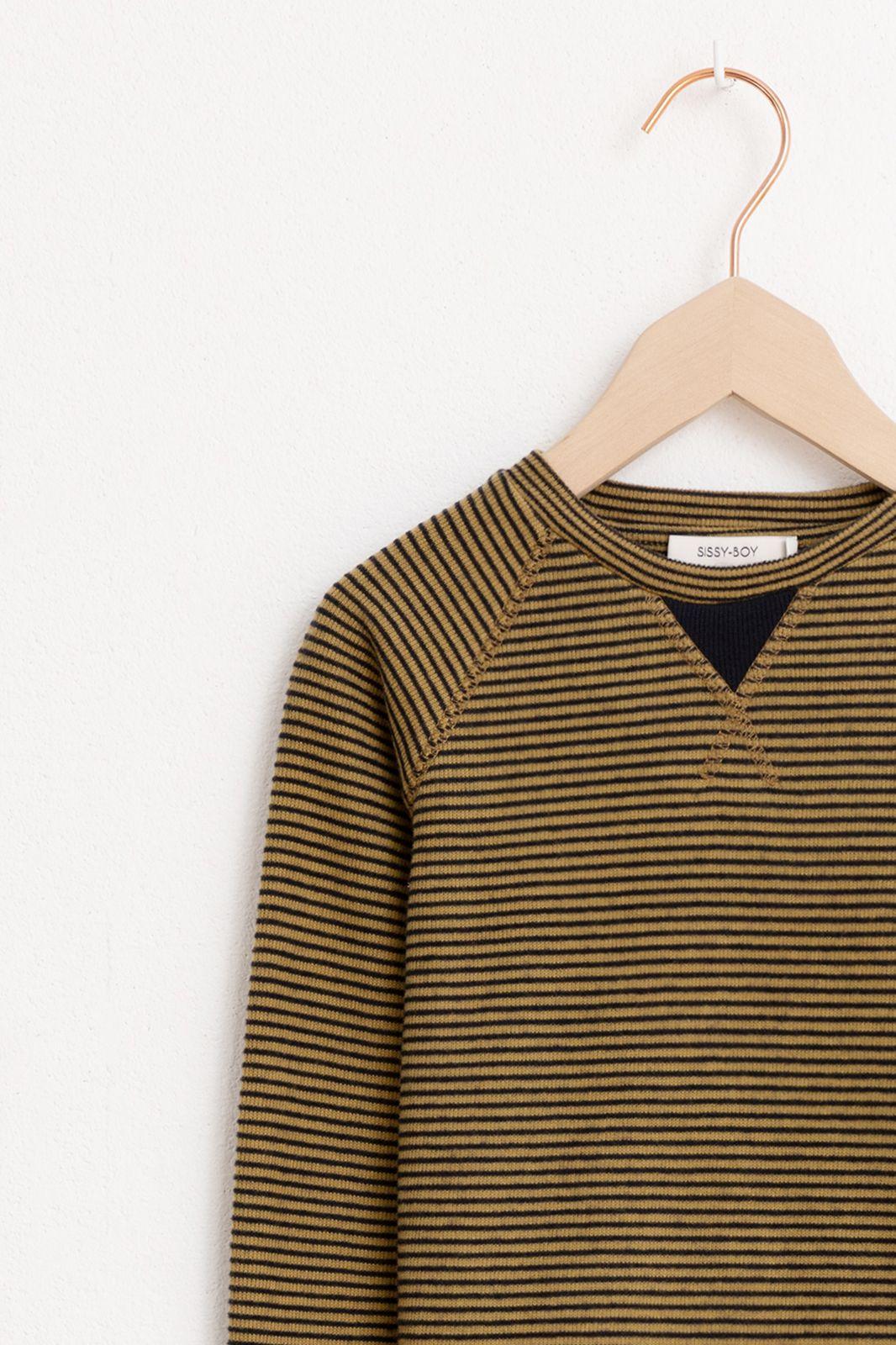 Geel t-shirt lange mouw streep - Kids | Sissy-Boy