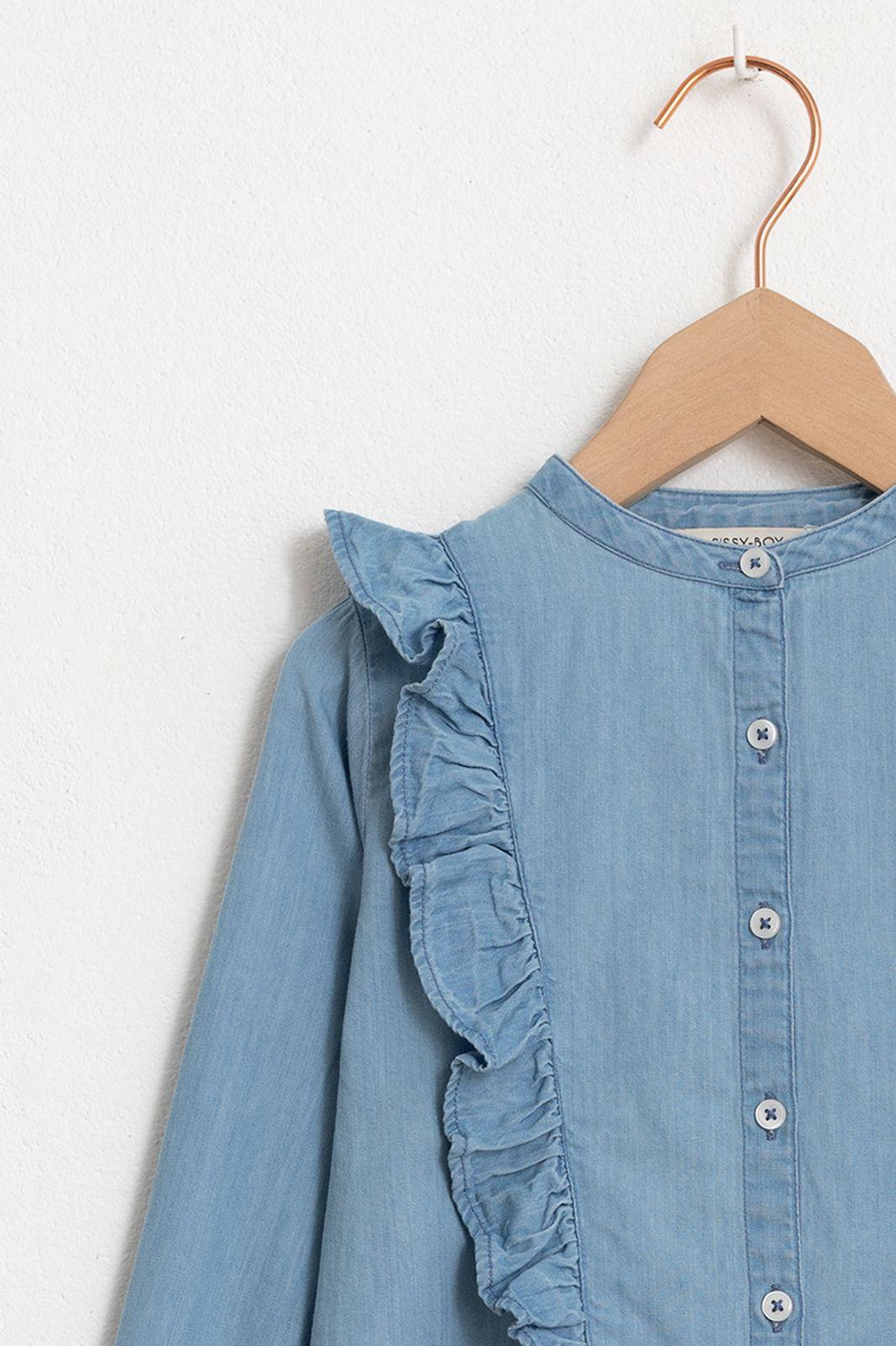 Denim blouse met ruffles - Kids | Sissy-Boy
