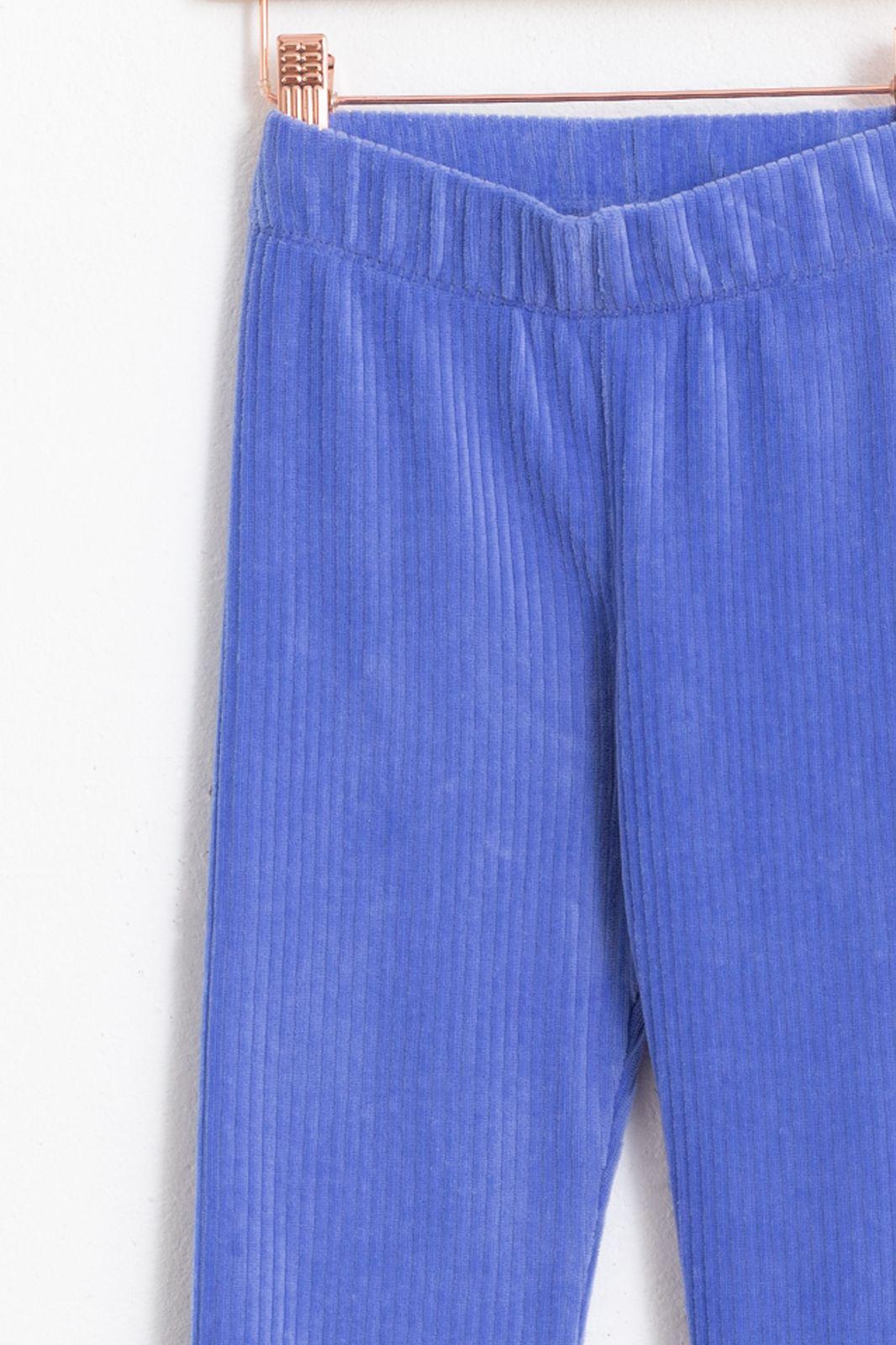 Blauwe flared rib legging